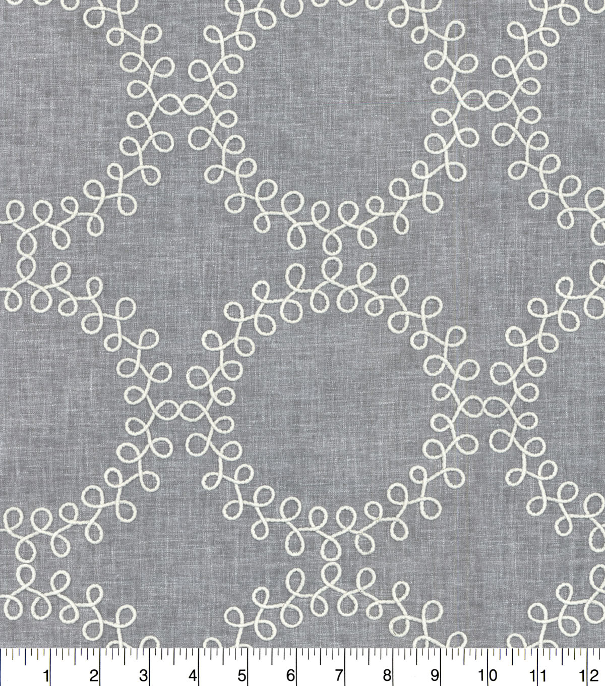 Waverly® Upholstery Fabric 54''-Thunder Ready to Roll Embroidery