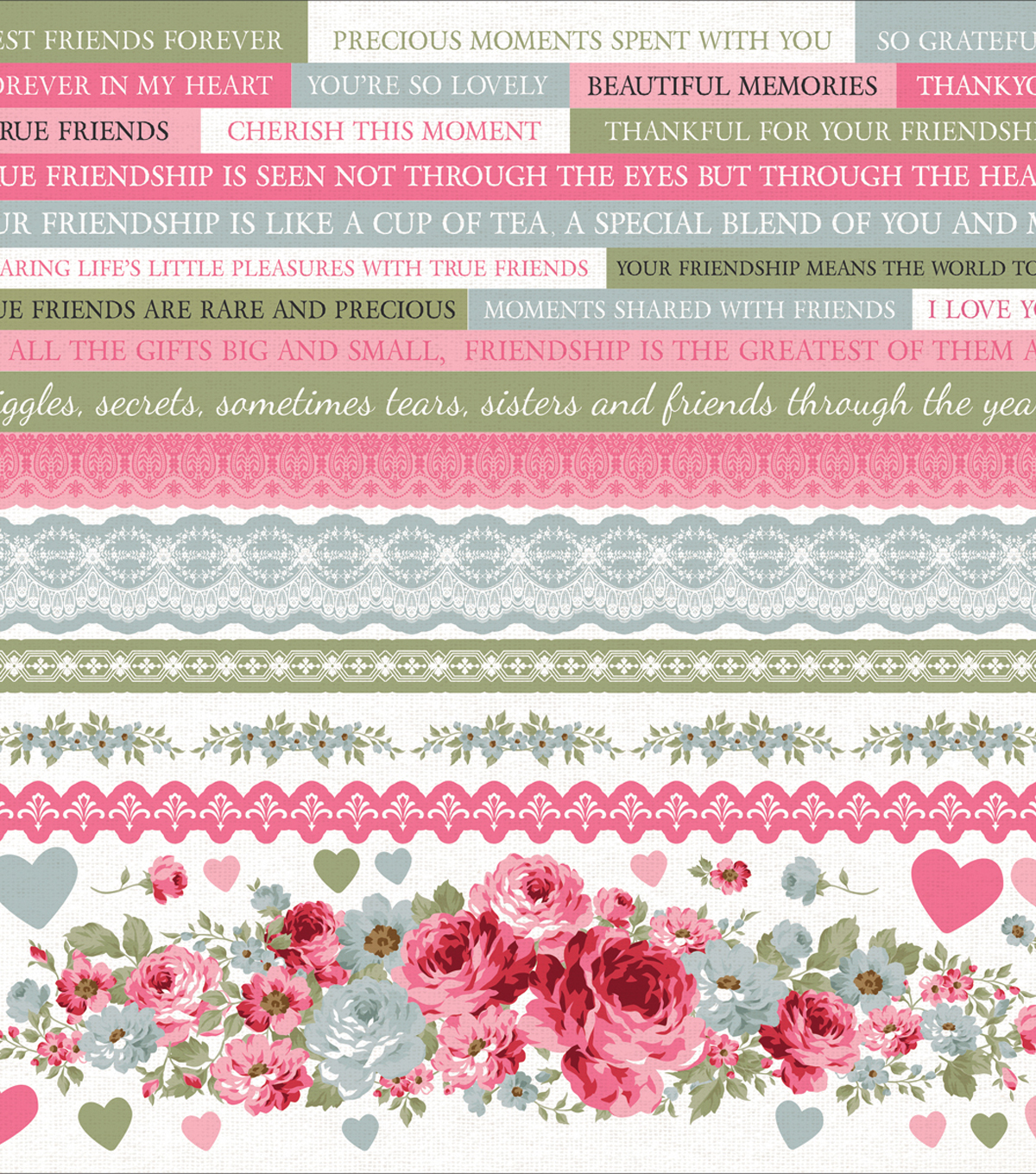 Kaisercraft High Tea 12\u0027\u0027x12\u0027\u0027 Printed Sticker Sheet