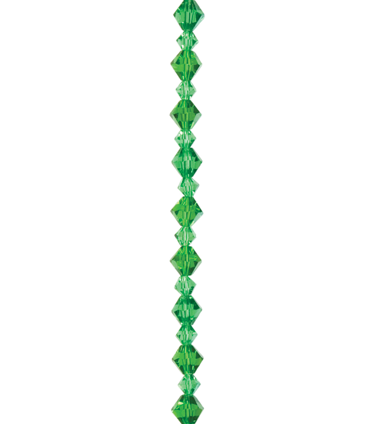 Cousin Jewelry Basics 4mm/6mm Bicone Beads 45/Pkg-Green