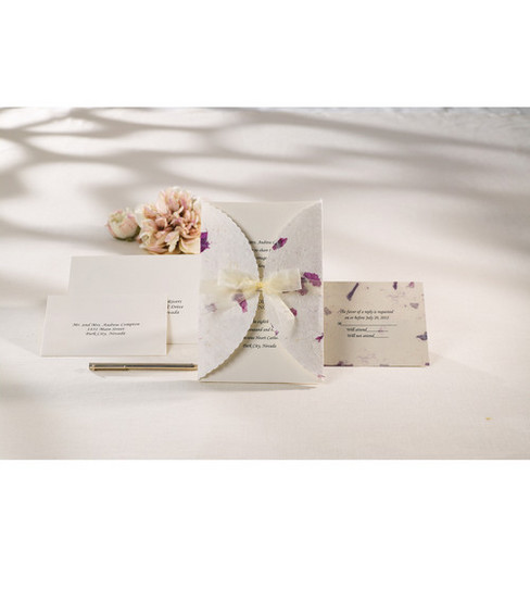 Wilton® Wedding Invitation Kit-Pressed Floral Lavender