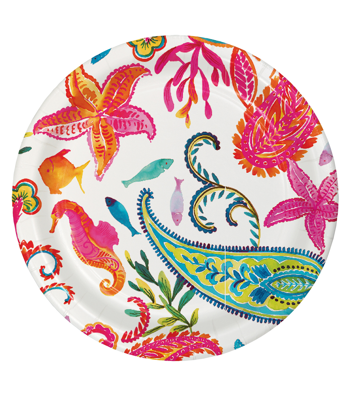 Summer Sol Pack of 8 7\u0027\u0027 Paper Lunch Plates-Hello Sunshine