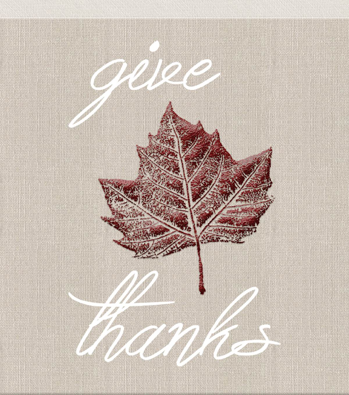 Art of Autumn Linen Give Thanks Canvas Wall Decor
