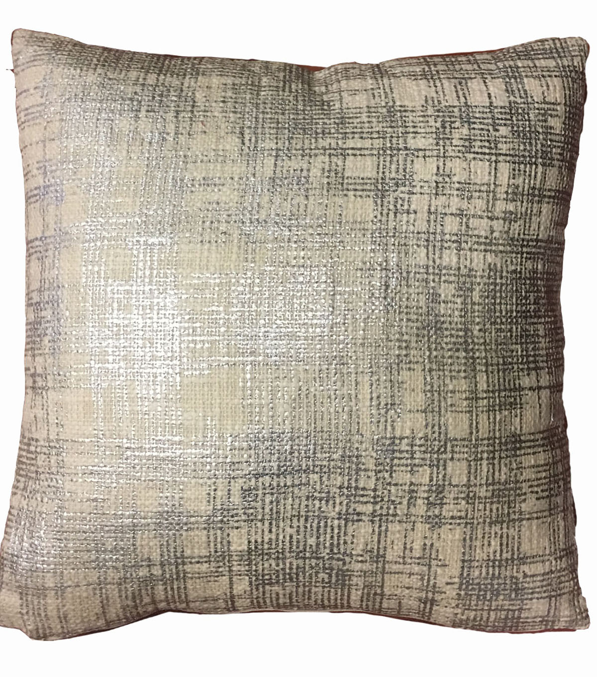 Foil Printed Pillow-Silver