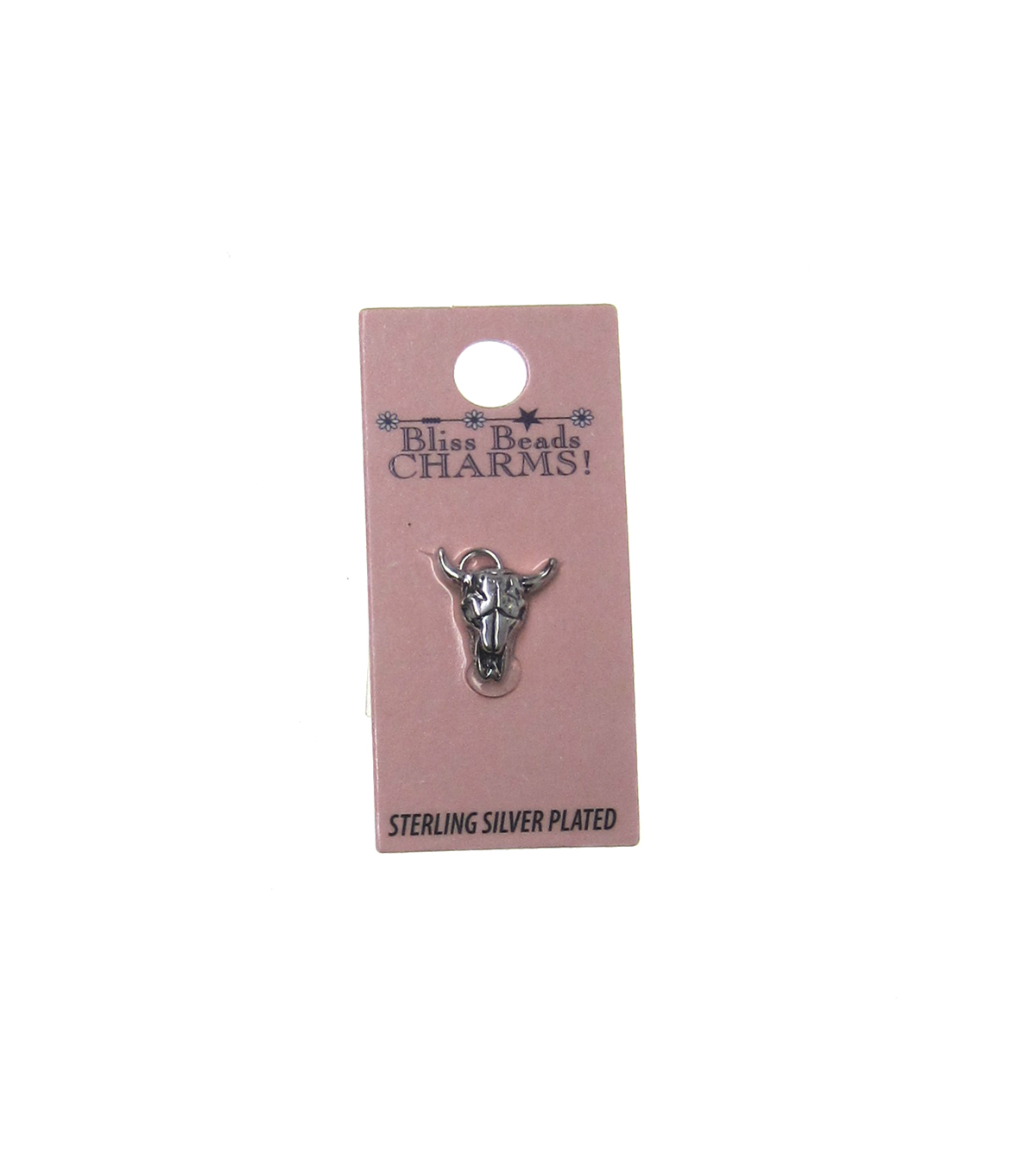 Silver Plated Cattle Skull Charm