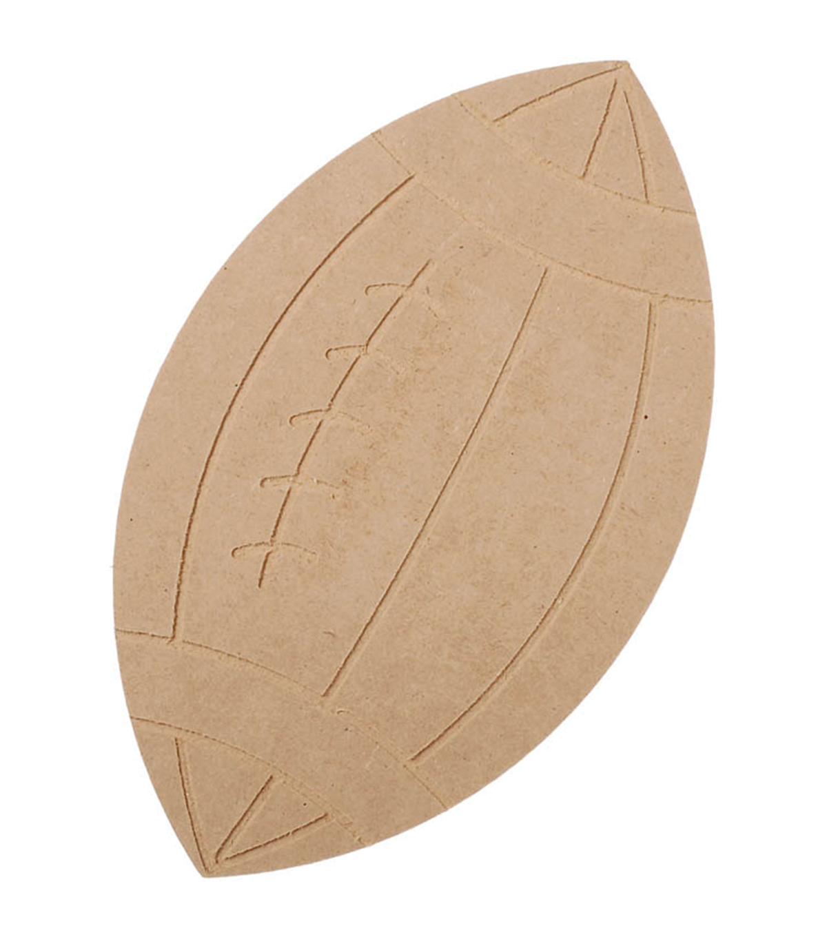 Wood Shape Football 6.3\u0022x10.63\u0022