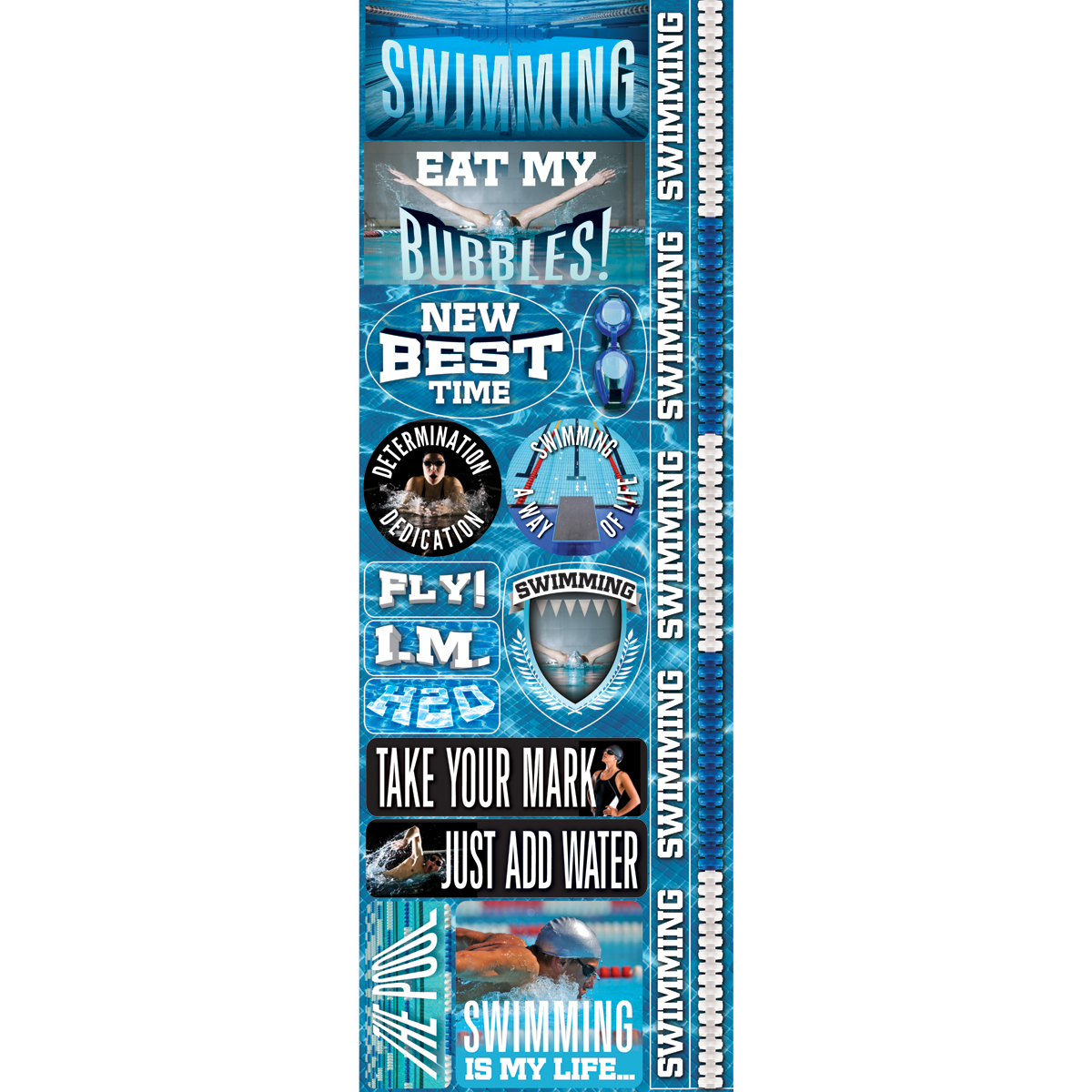 Swim Combo-real Sport Stickers