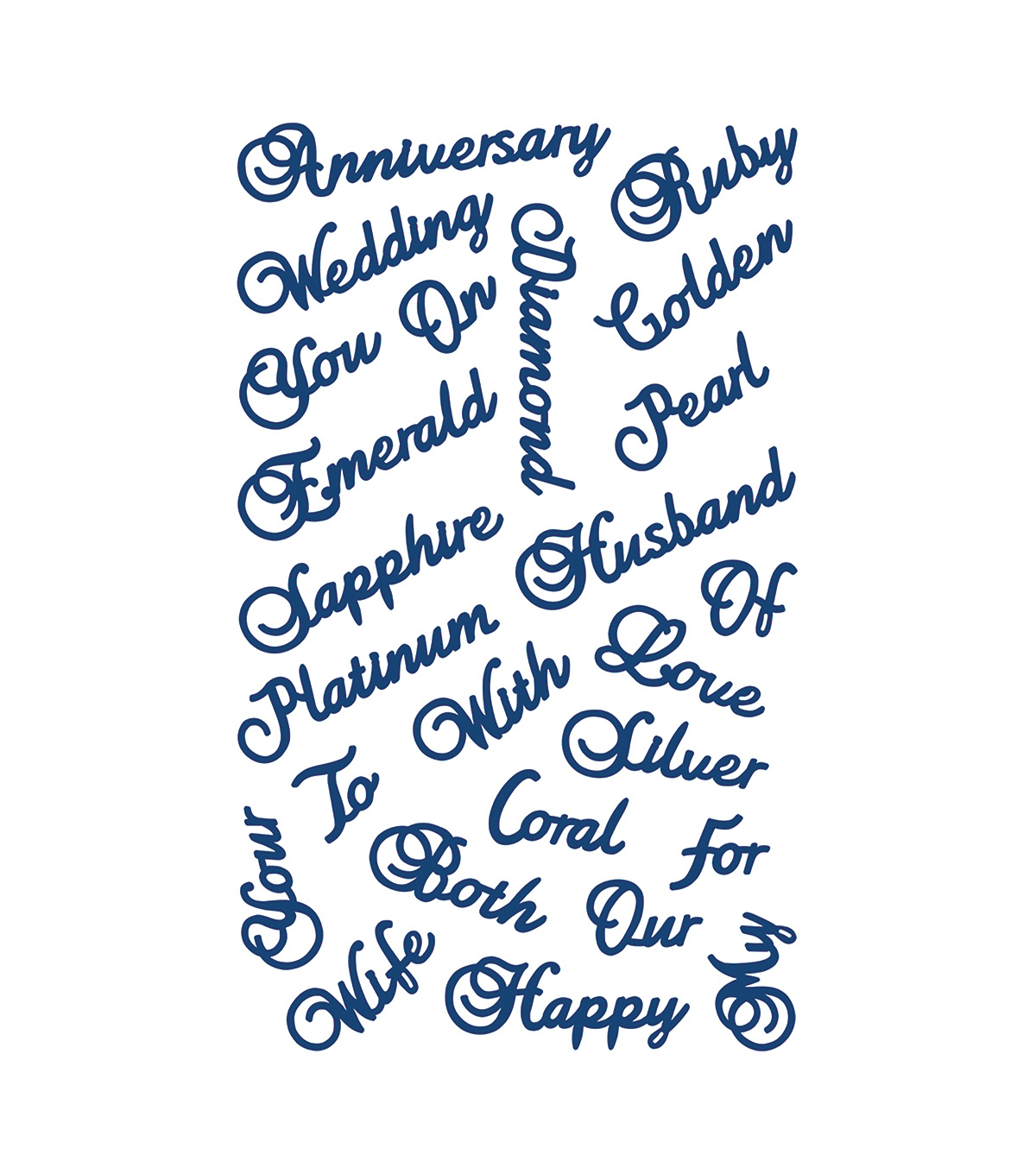 Tattered Lace Metal Die-Anniversary Words
