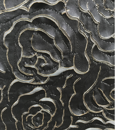 3-d Die Cut Rose Blk/gold