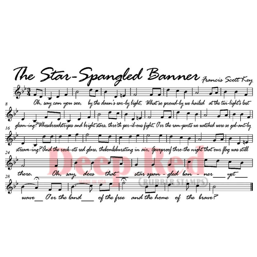 Deep Red Stamps Cling Stamp Star Spangled Banner