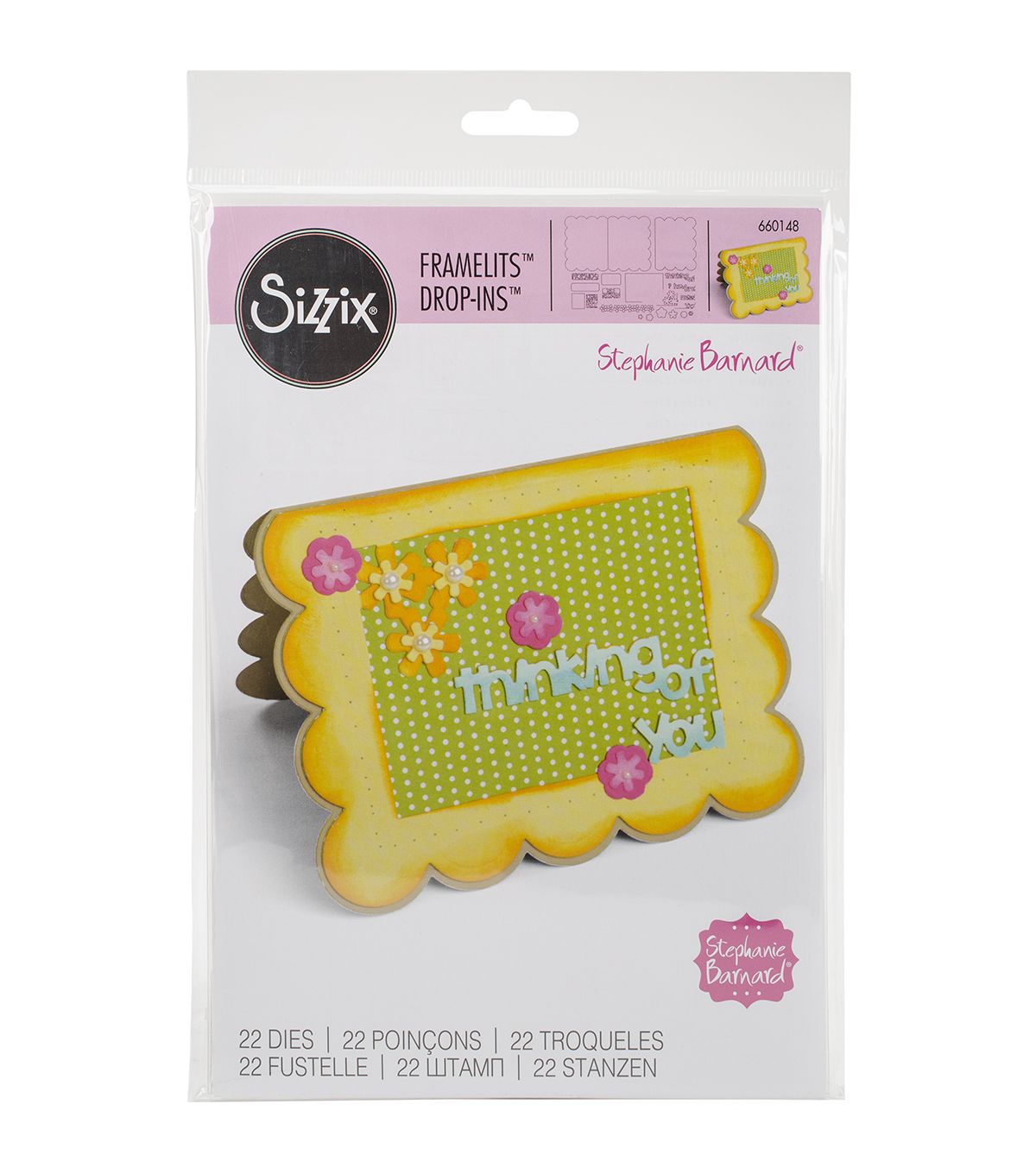 Sizzix® Framelits™ Dies-Flowers & Sentiments Drop-Ins Card