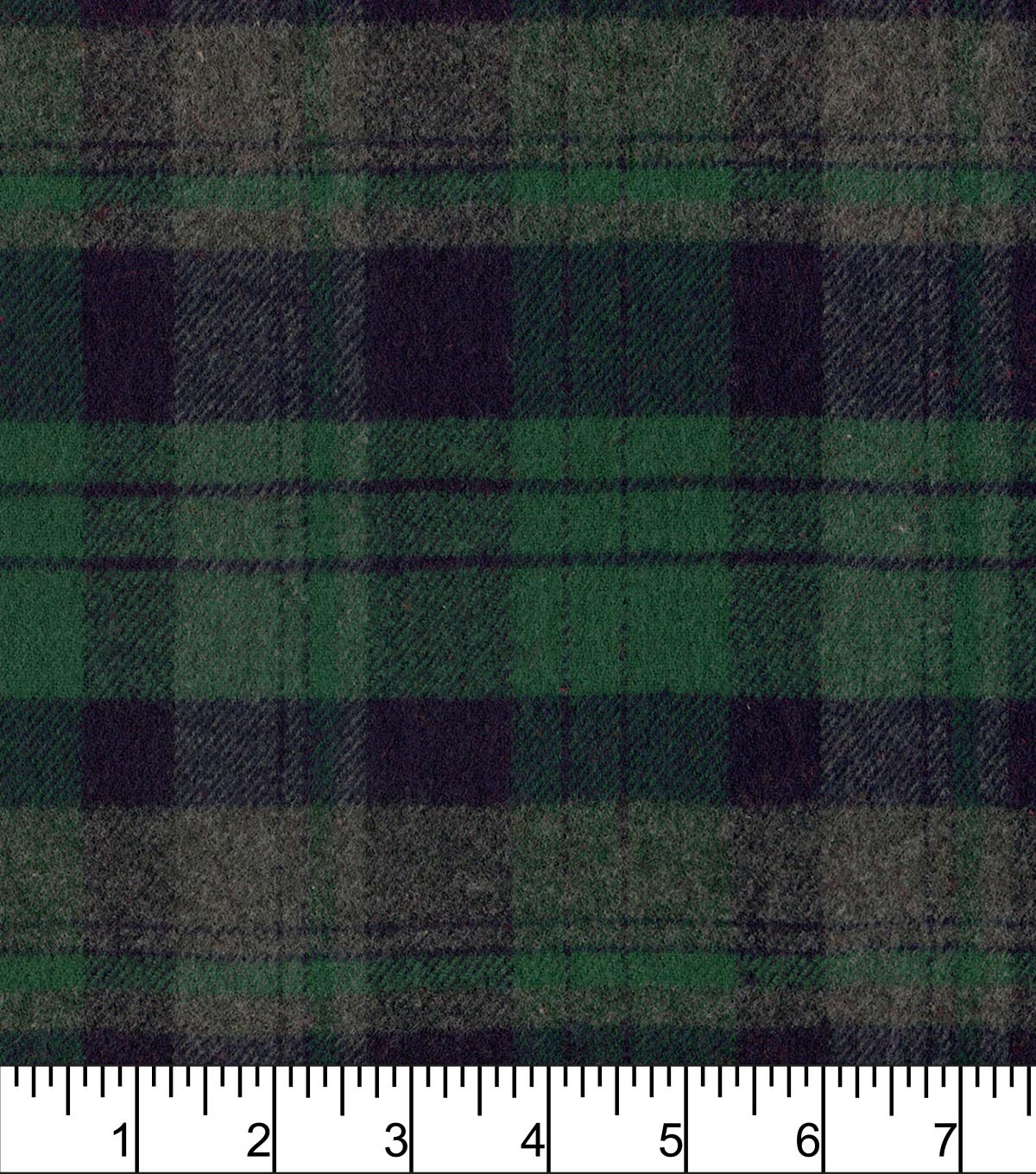 Plaiditudes Brushed Cotton Fabric 44\u0022-Heathered Grey Green
