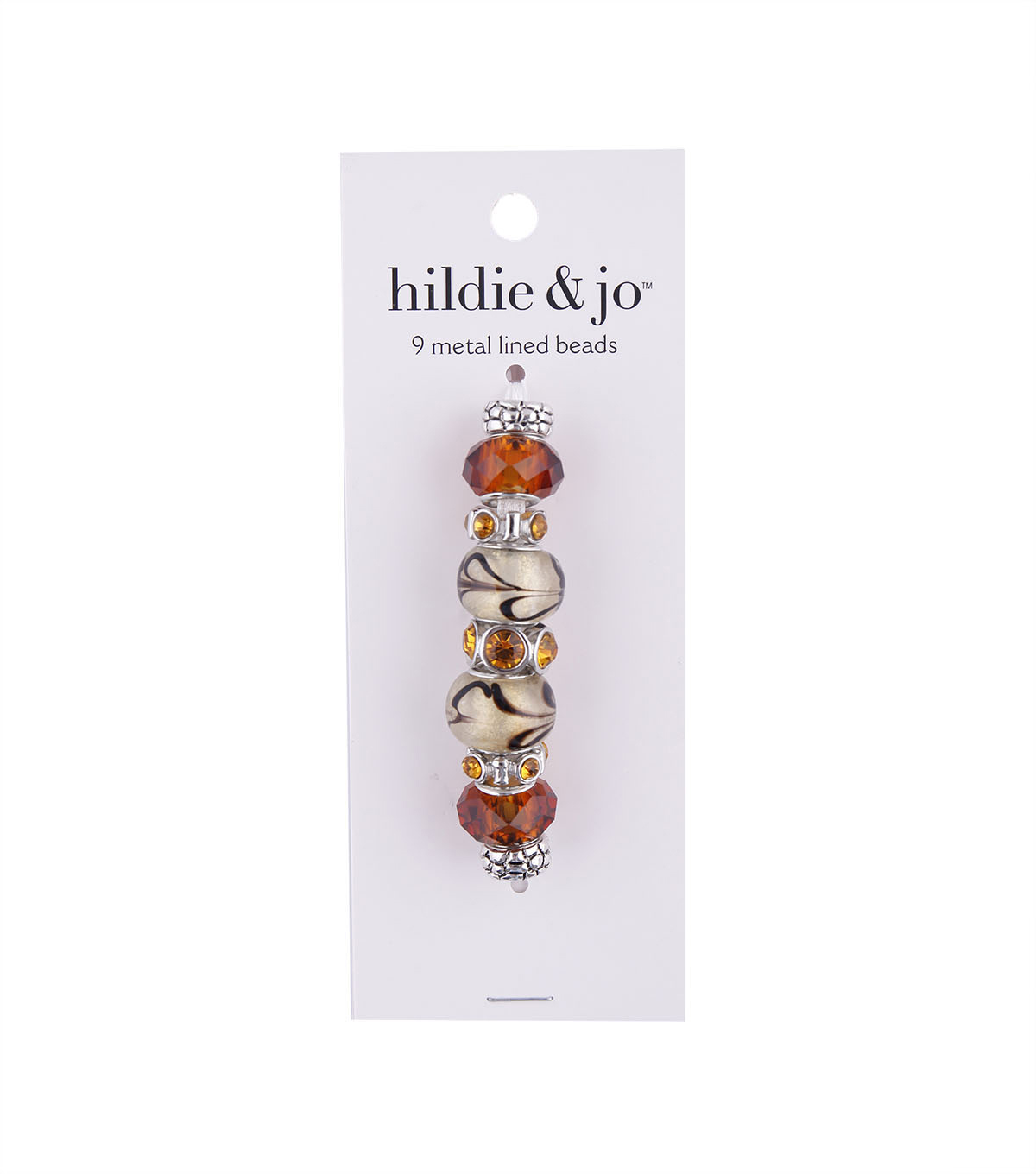 hildie & jo™ Mix & Mingle Metal Lined Glass Beads-Coffee Brown