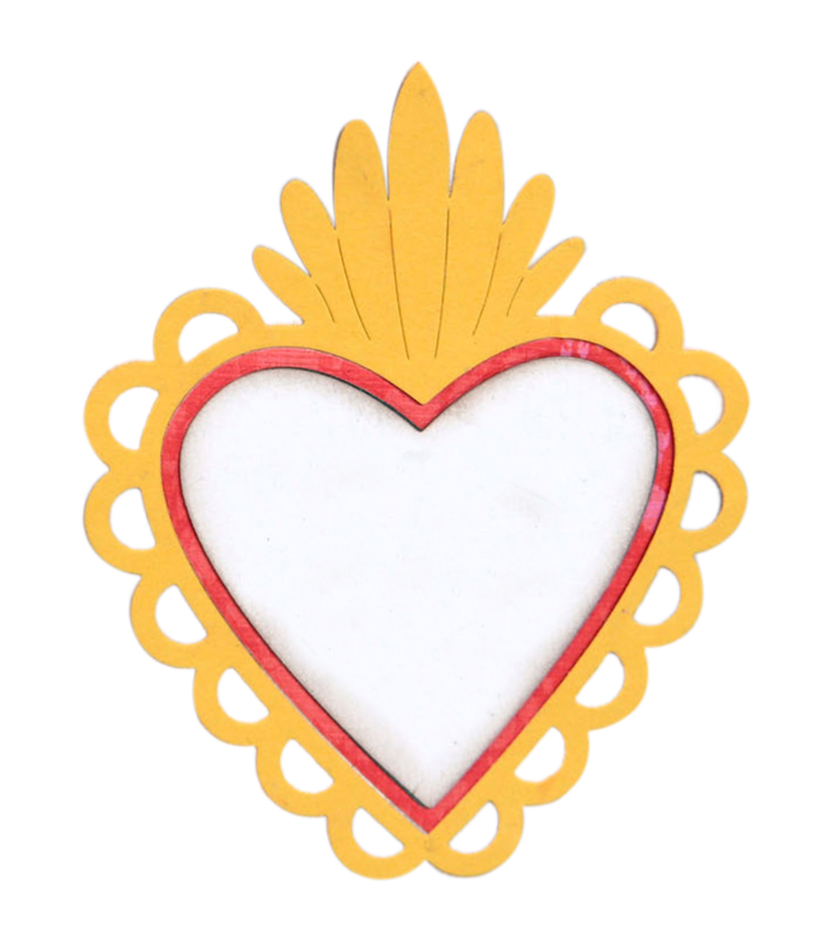 Sizzix Thinlits Crafty Chica Dies-Sacred Heart with Flowers
