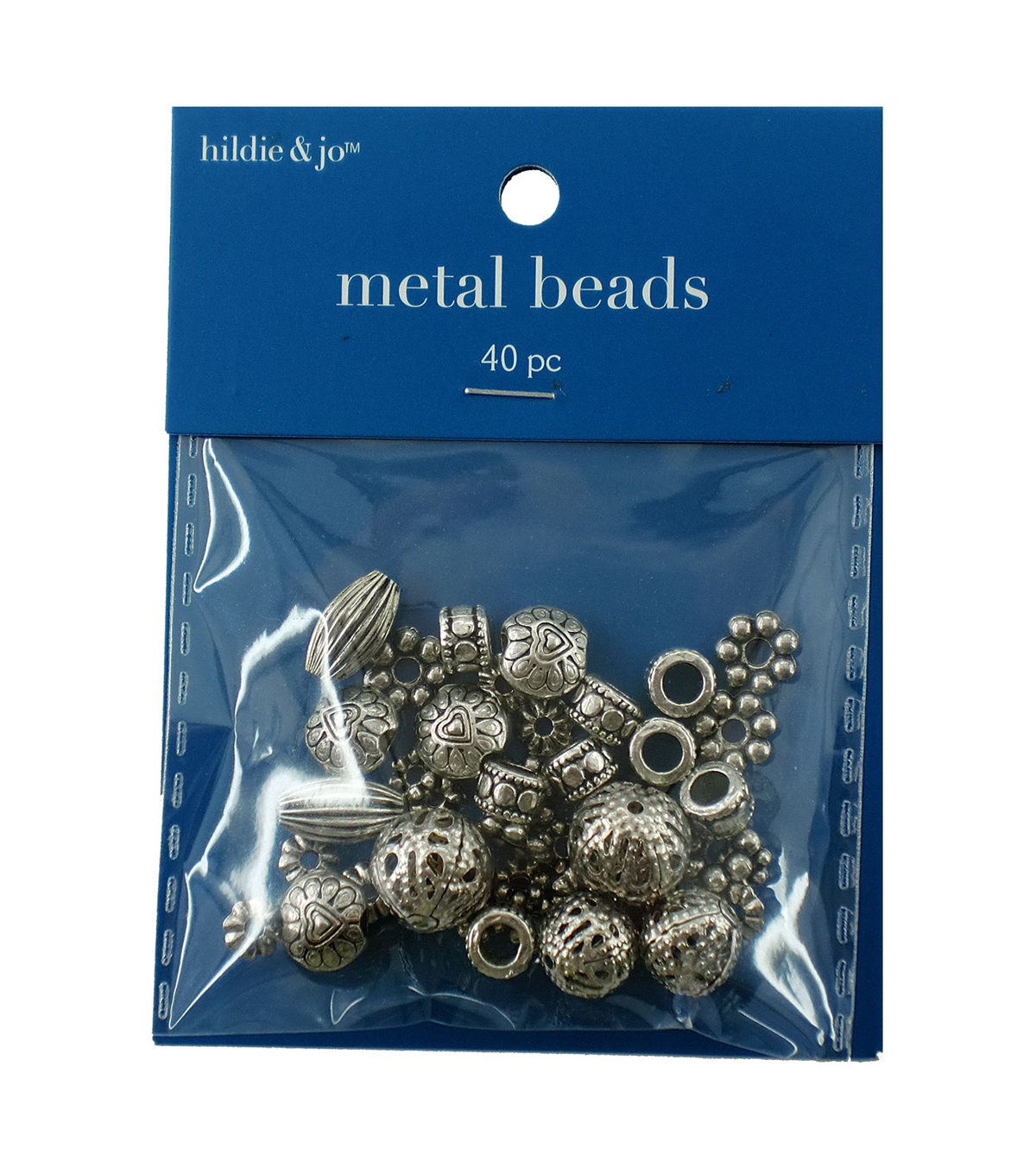 Darice Big Value! Cast Spacer Beads-40PK/Silver