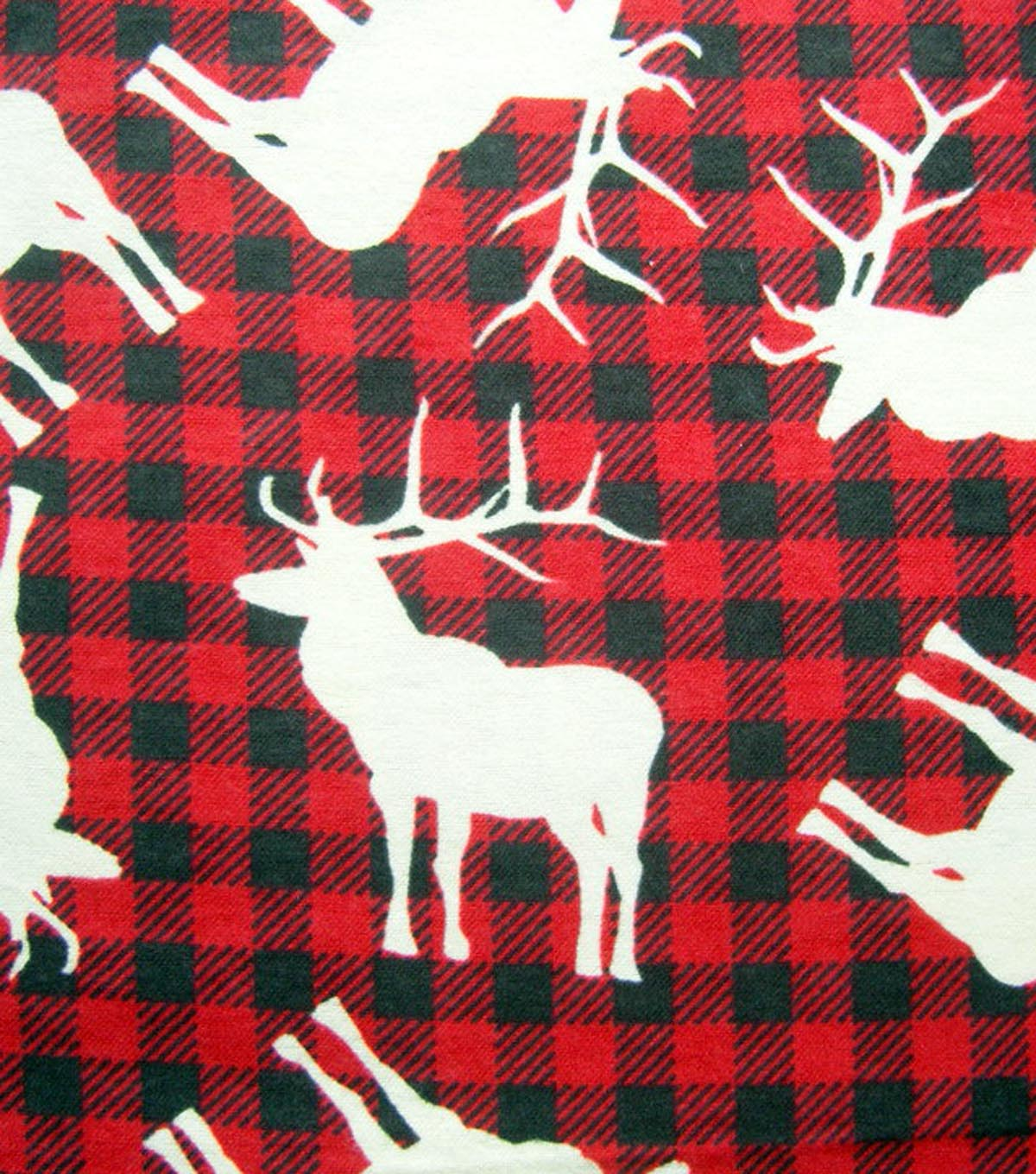 Snuggle Flannel Fabric Moose Buffalo Plaid Joann