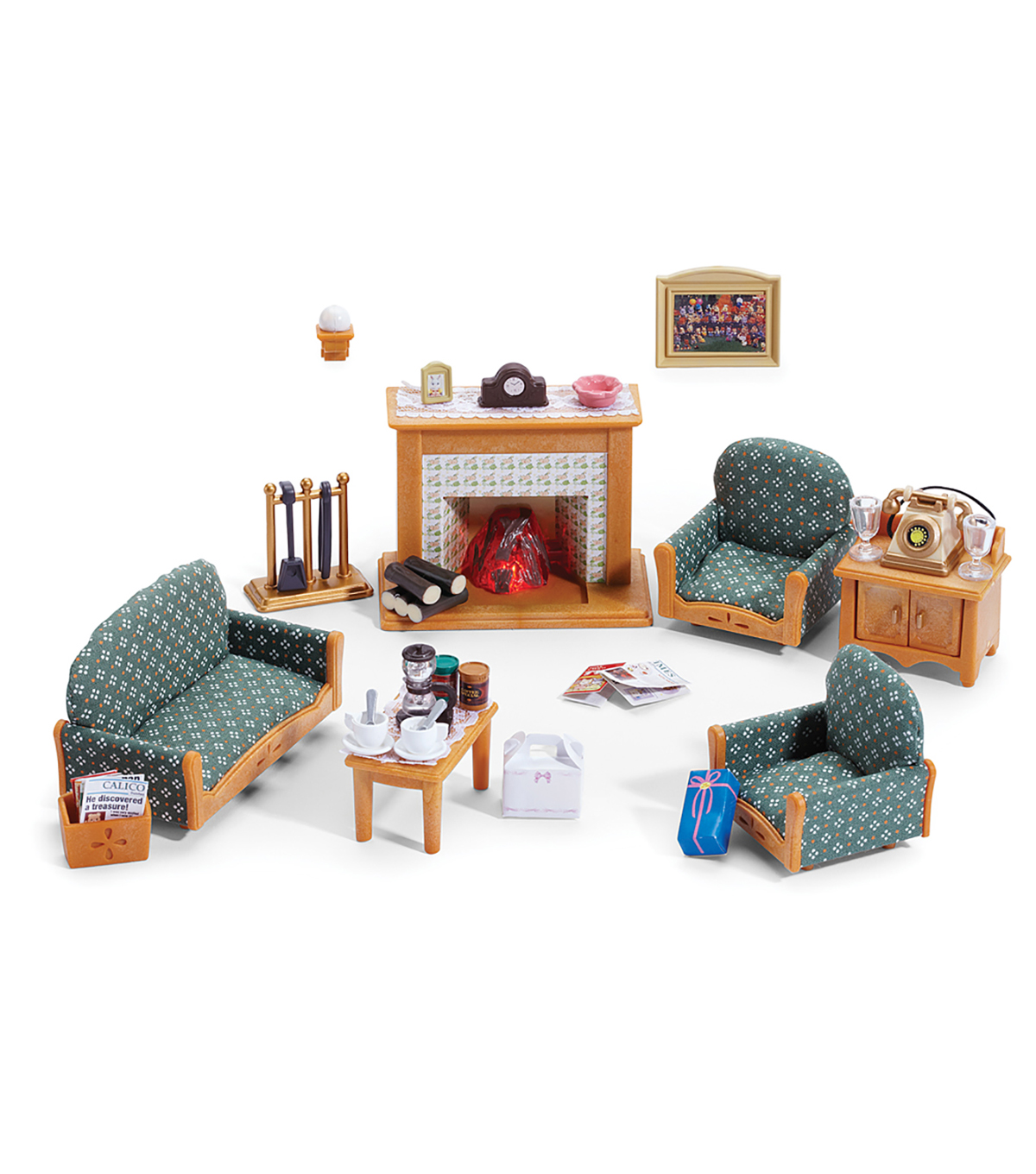 Calico Critters Deluxe Living Room Set Part 49