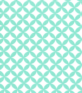 Quilter's Showcase Cotton Fabric-Quatrefoil Ice Green/White