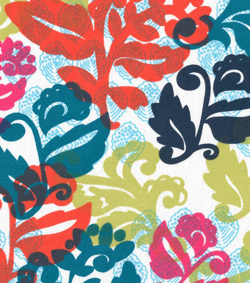 Keepsake Calico™ Cotton Fabric-Tropical Bright Leaf