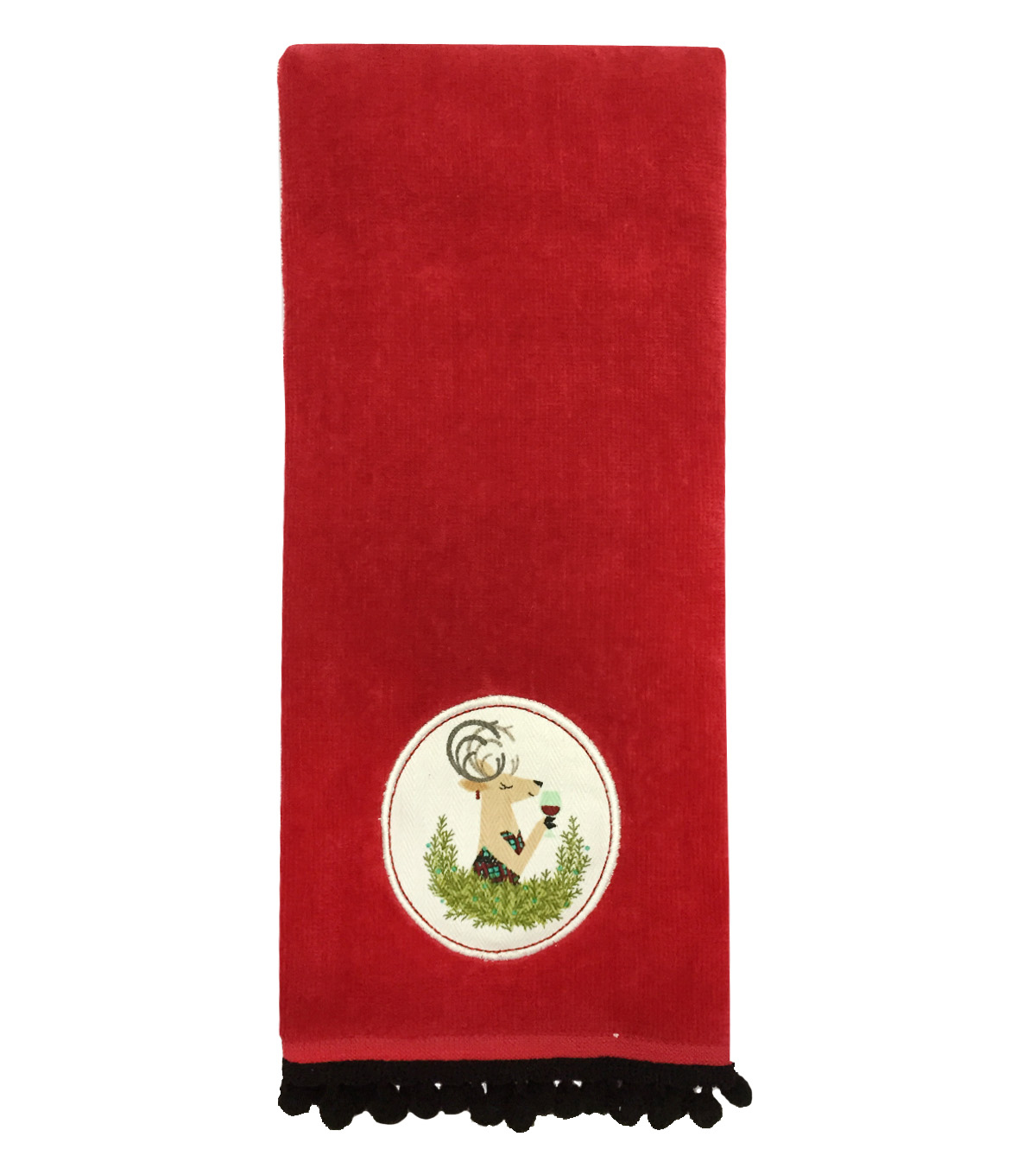 Maker\u0027s Holiday Terry Towel-Red Deer