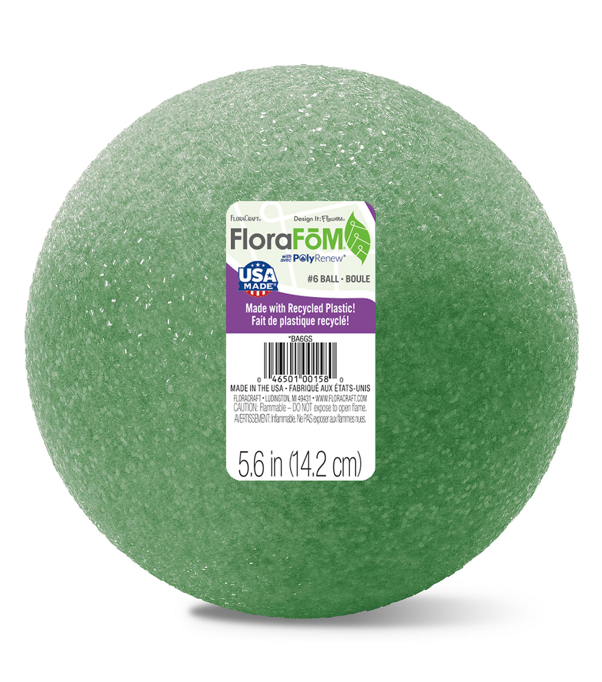 6In Foam Ball Green