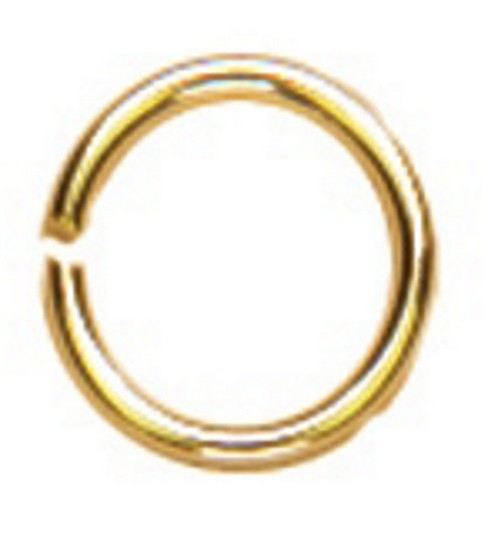 Cousin 4mm Gold Elegance Open Jump Ring-30PK/14K Gold Plated