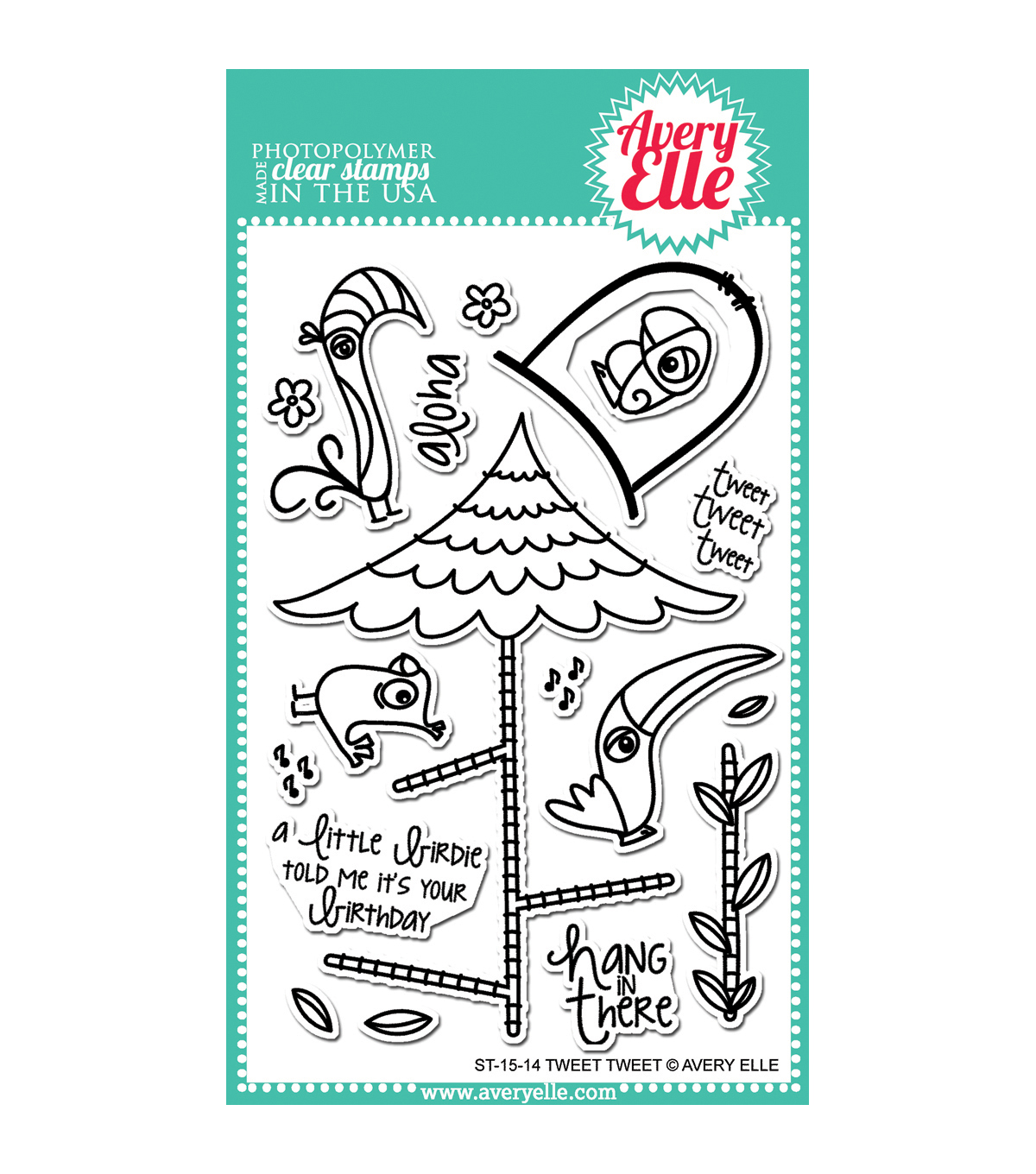Avery Elle Clear Stamp Set-Tweet Tweet