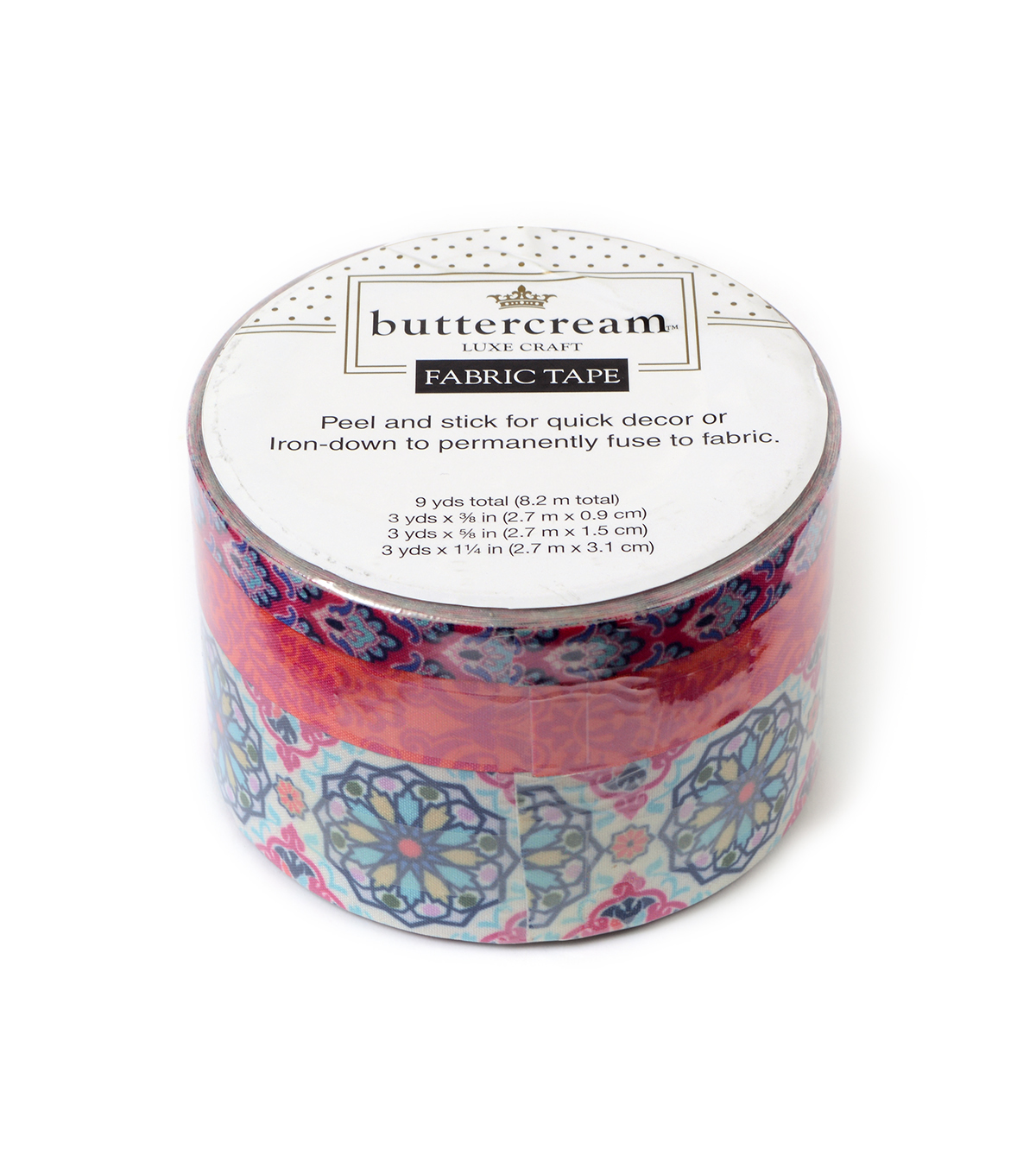 Buttercream™ Olivia Collection Fabric Tape-Moroccan Pink