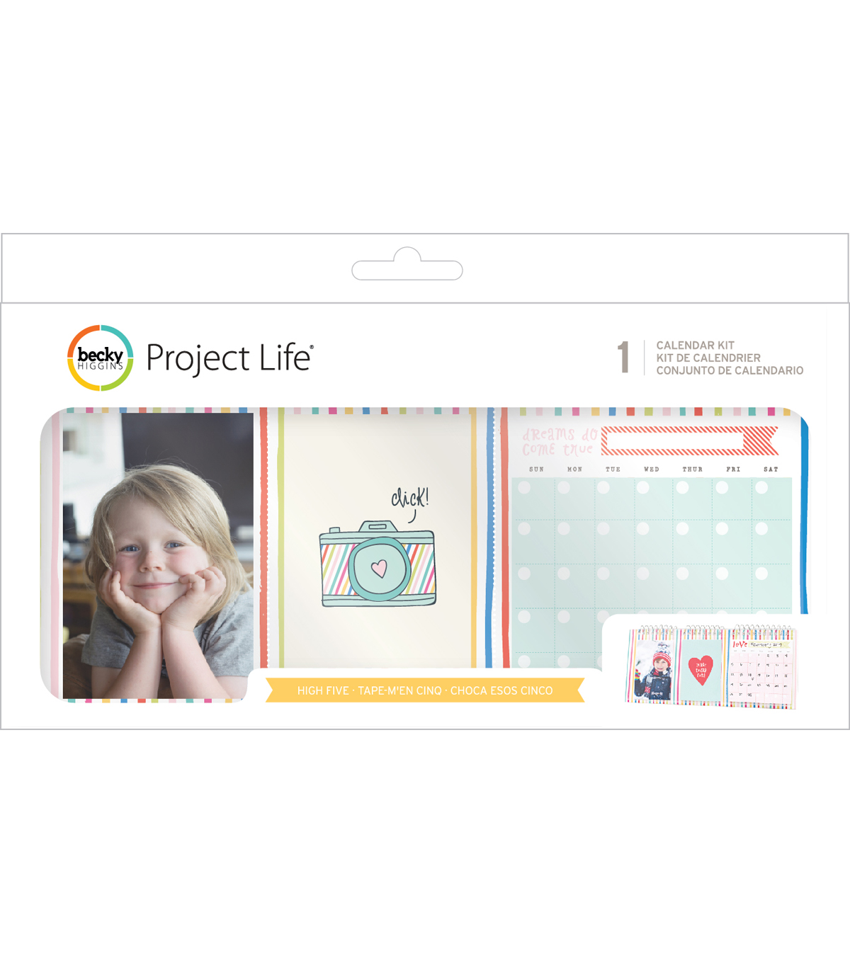 Project Life High Five Pack of 25 Pocket Calendar Kit