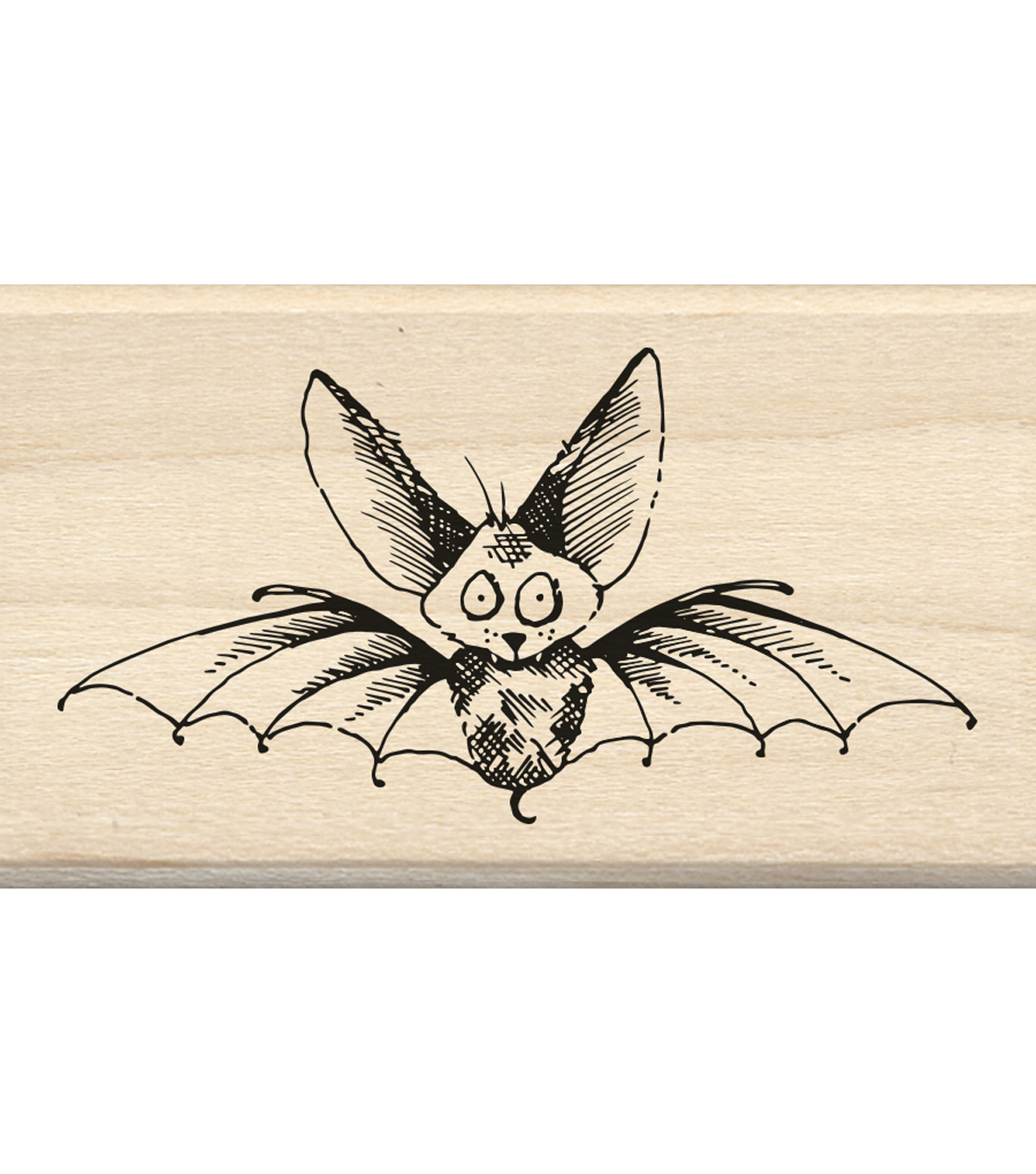 Inkadinkado® Mounted Rubber Stamp-Scaredy Bat
