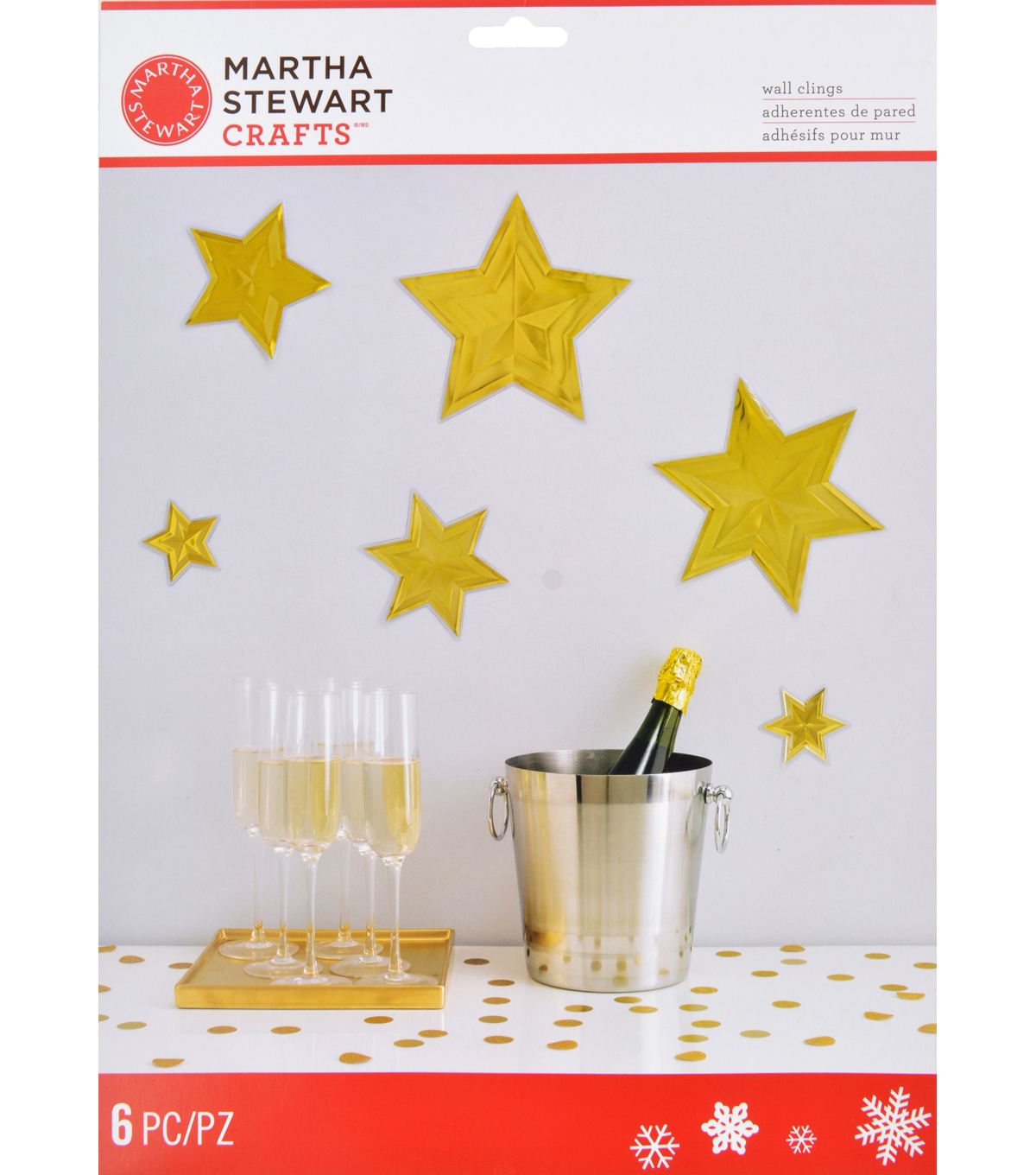 Martha Stewart Crafts™ Starburst Wall Cling-Holiday Lodge