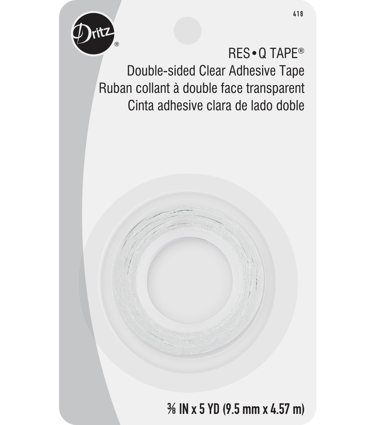 Dritz 0.38\u0022 Wide x 5Yds Res-Q Double Faced Tape