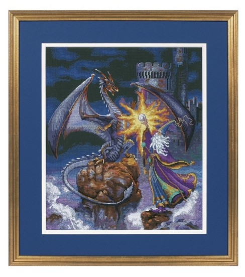 Gold Collection Magnificent Wizard Counted Cross Stitch Kit-12\u0022X14\u0022