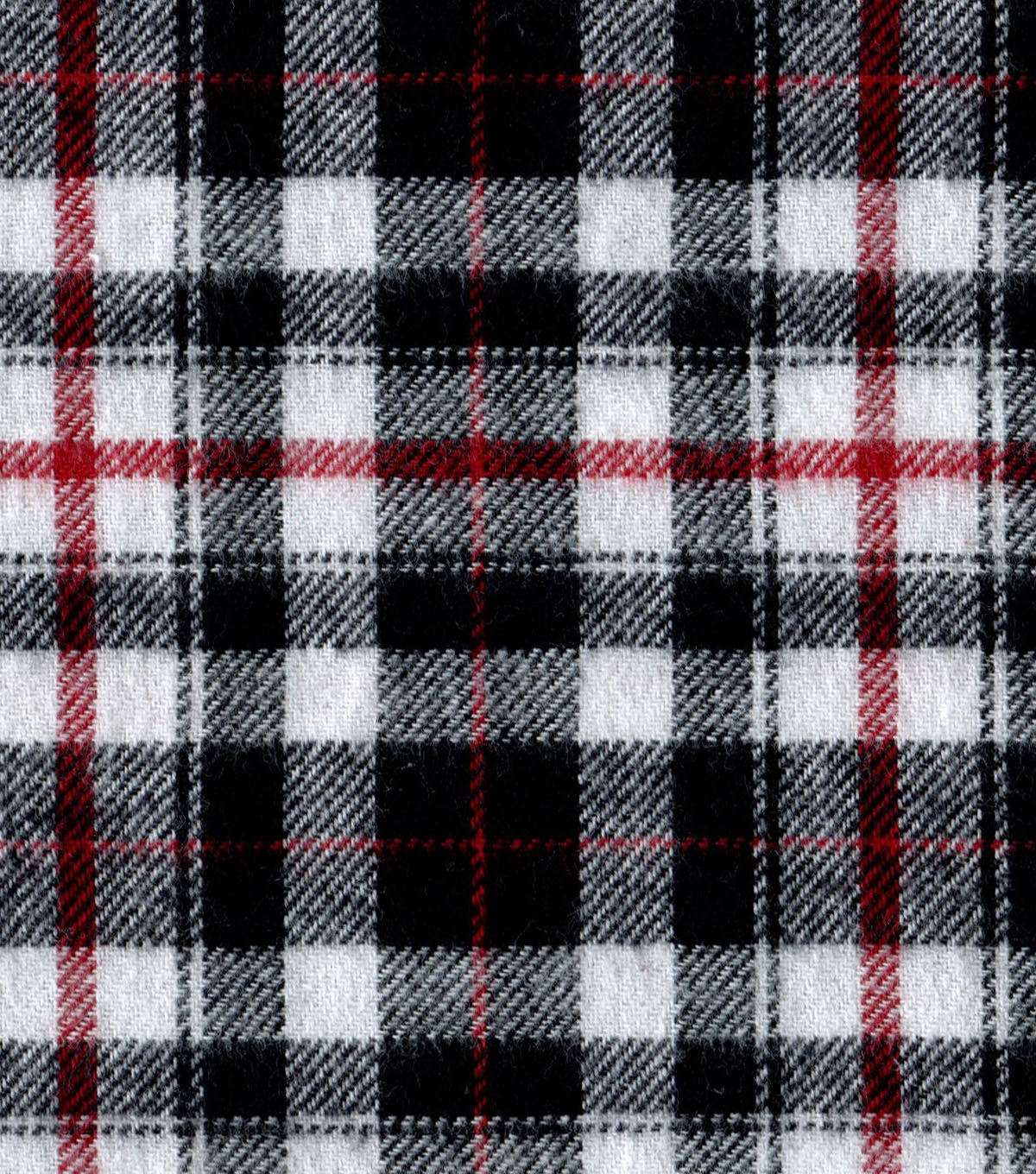 "Flannel Shirting Fabric 41""-Red Black White"