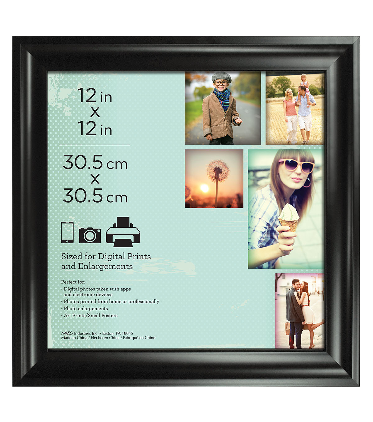 Wall Frame 12X12-Deep Scoop Black