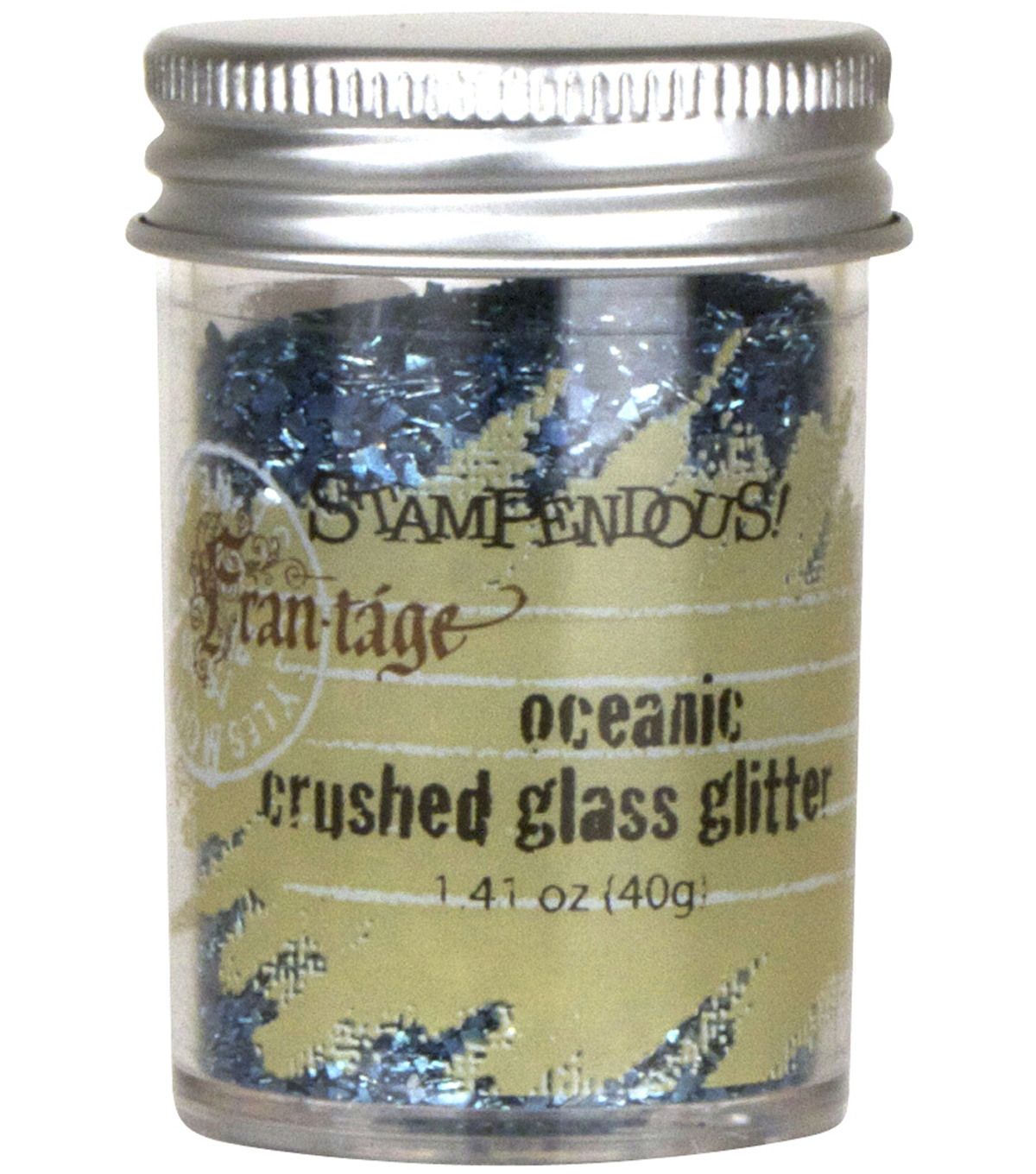 Stampendous Glass Glitter 1 Ounce-Oceanic
