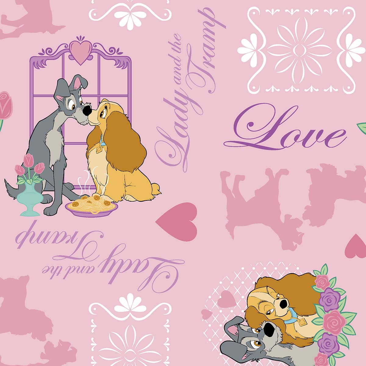licensed cotton fabric lady n the tramp joann