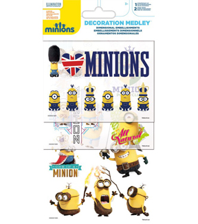 Minions Decoration Medley Dimensional Embellishments