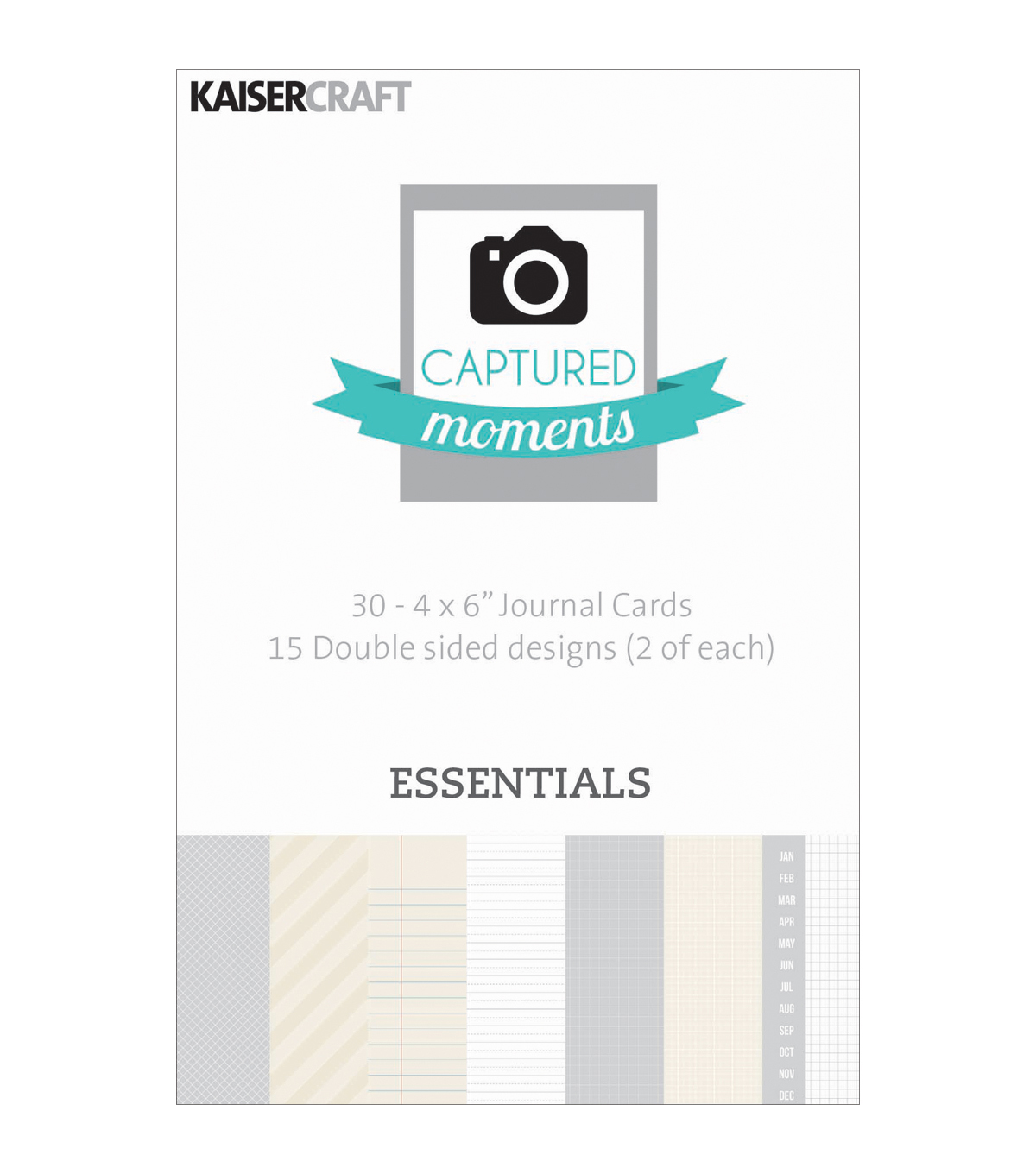 Kaisercraft Captured Moments Essentials Double Sided Cards 6\u0022x4\u0022