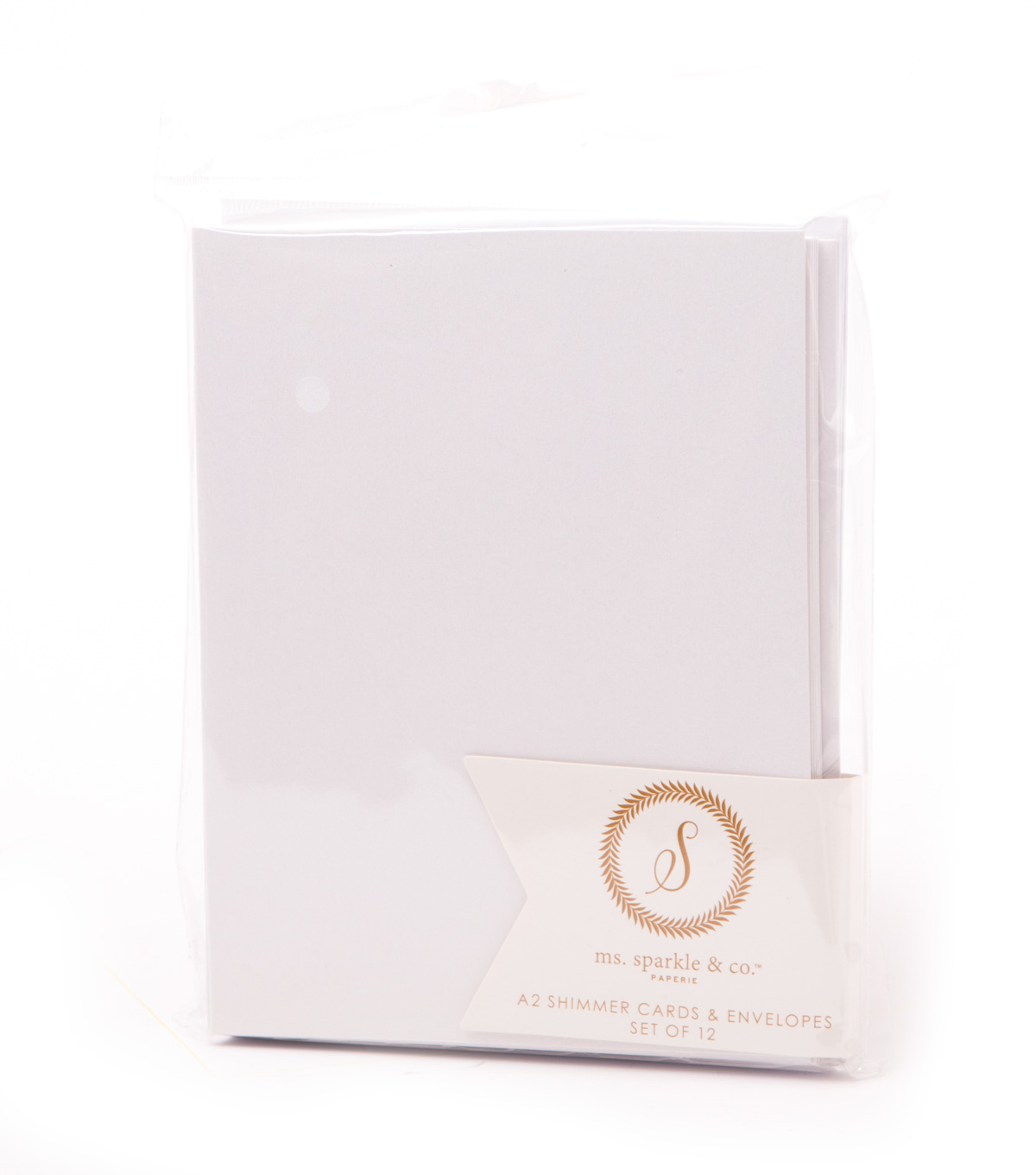 Ms. Sparkle & Co. A2 Shimmer Cards & Envelopes-White