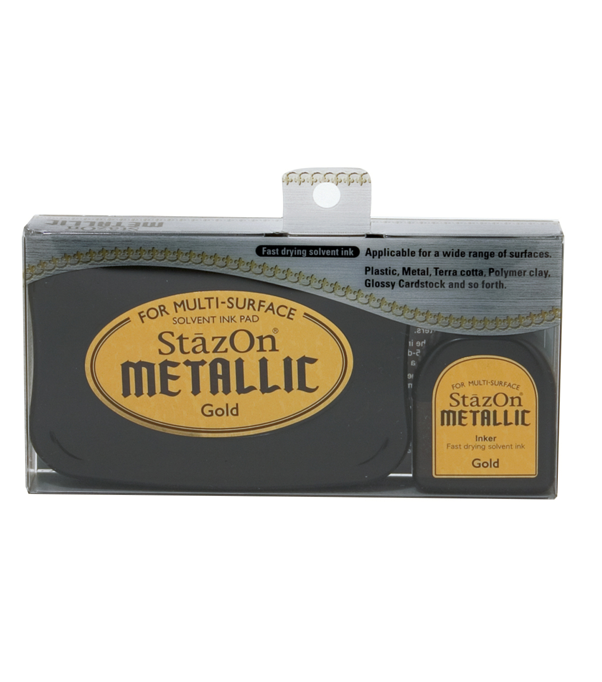 StazOn Metallic Solvent Ink Kit-Gold