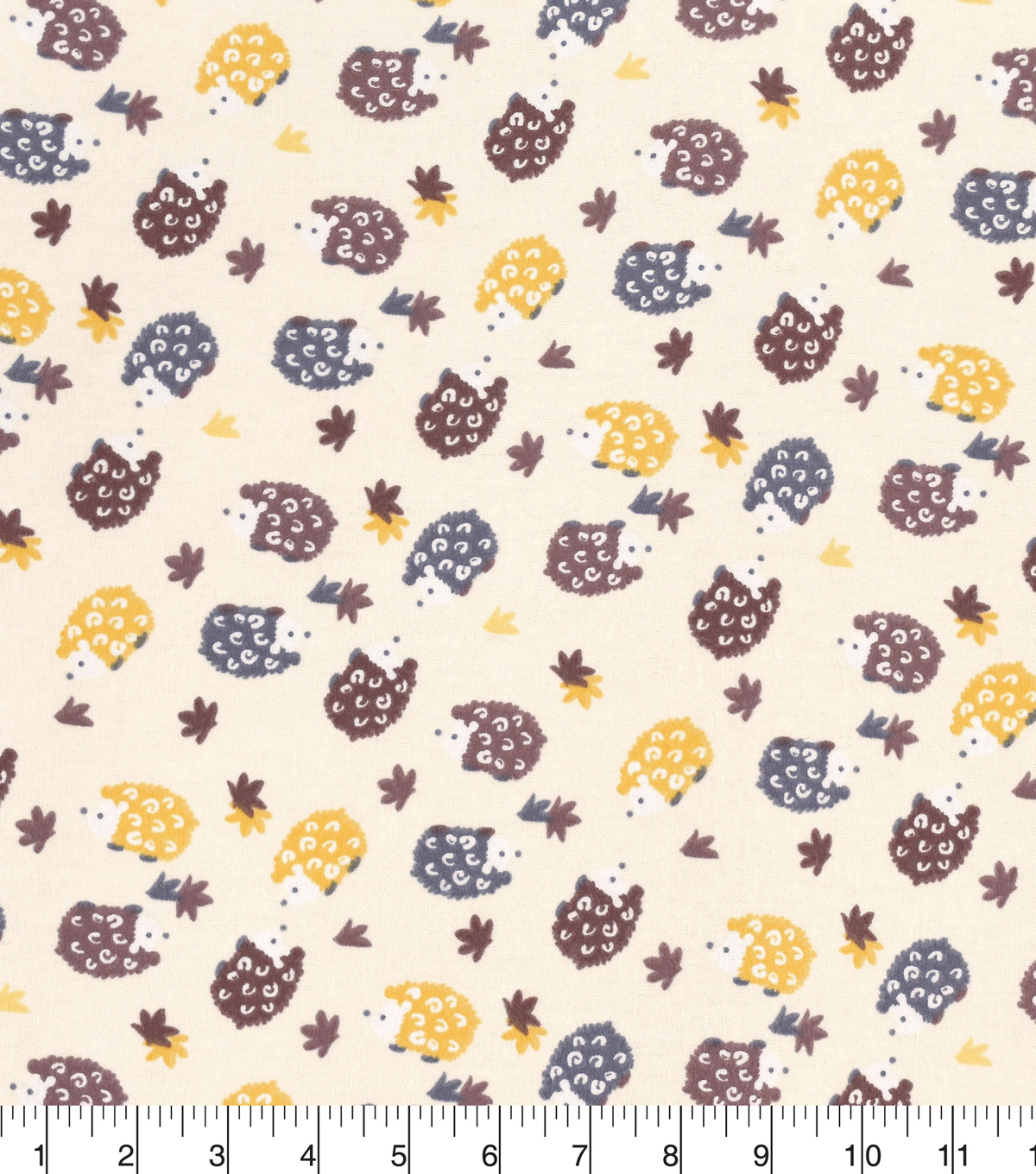 Snuggle Flannel Fabric 42\u0027\u0027-Hedgehogs On Cream