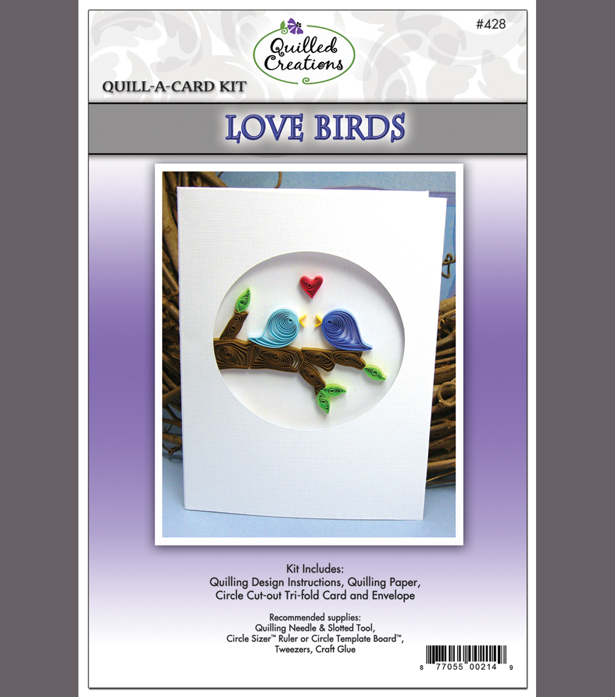 LOVE BIRDS-QUILL-A-CARD KIT