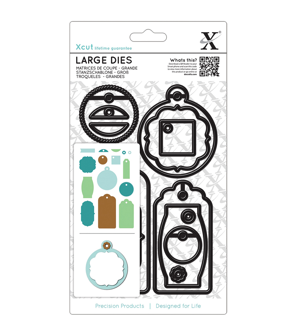Docrafts Xcut Decorative Everyday Gift Tags Large Dies