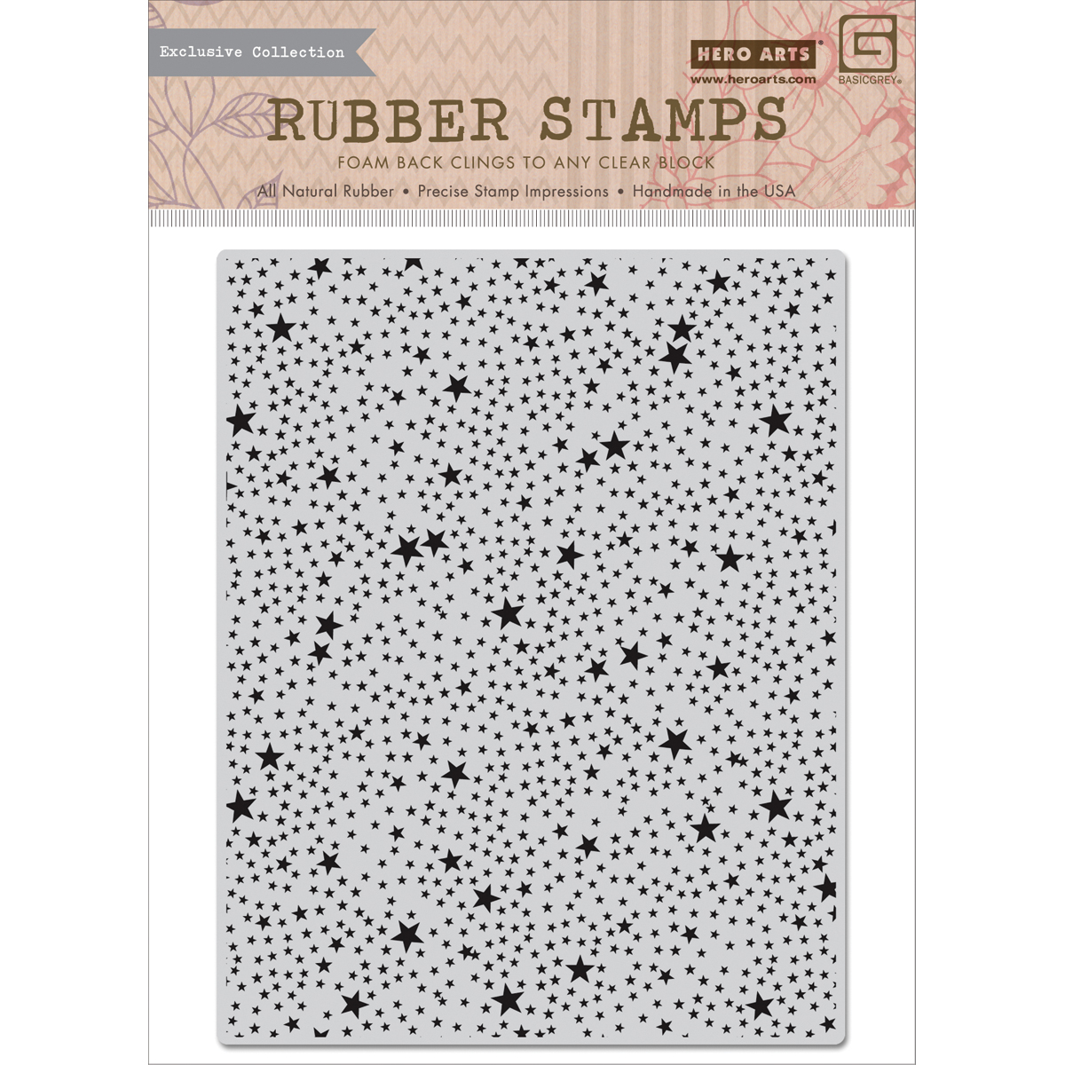 Hero Arts Basic Grey RSVP Cling Stamps Tiny Star Background