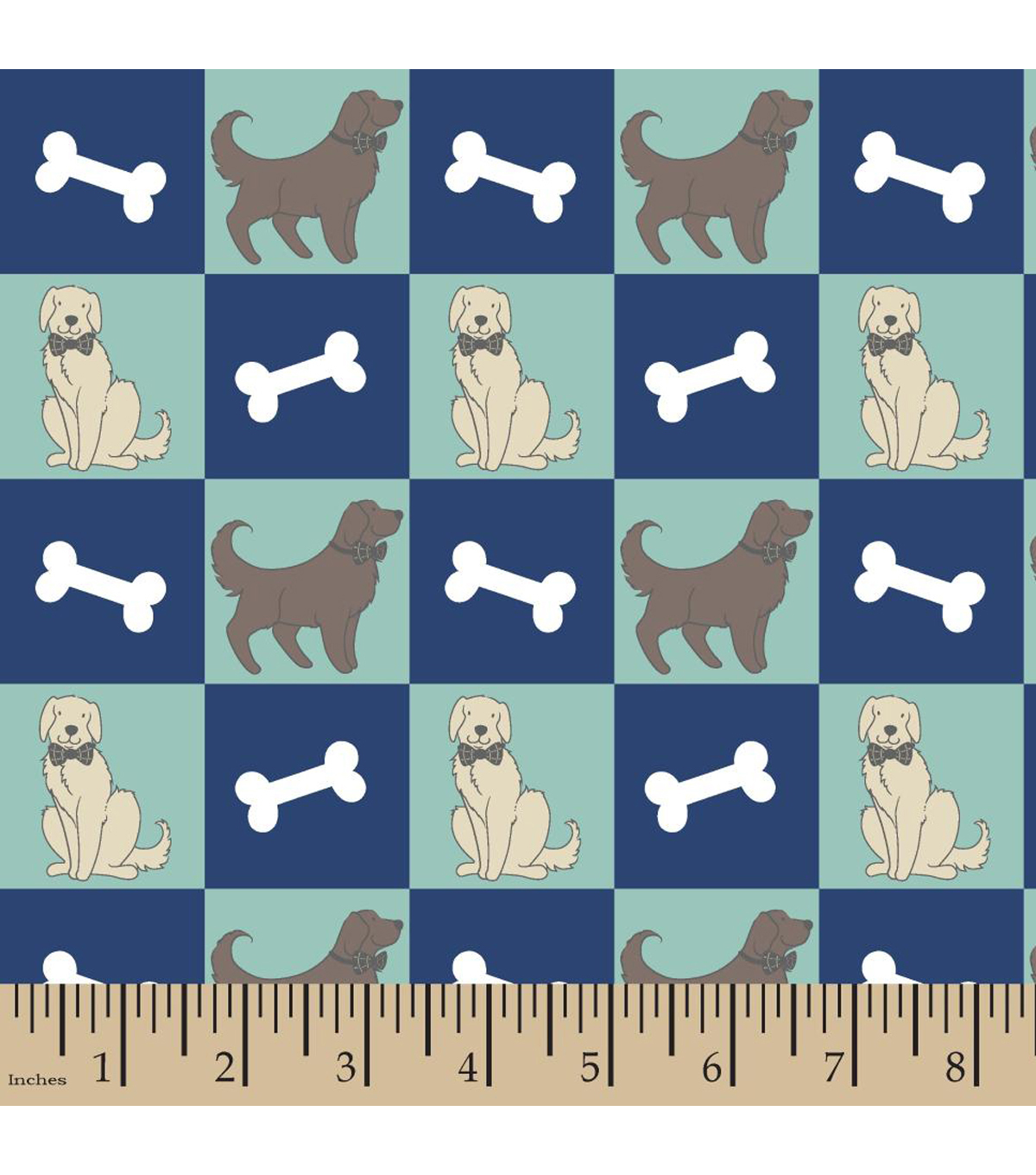 Snuggle Flannel Fabric 42\u0022-Dog And Bone Multi