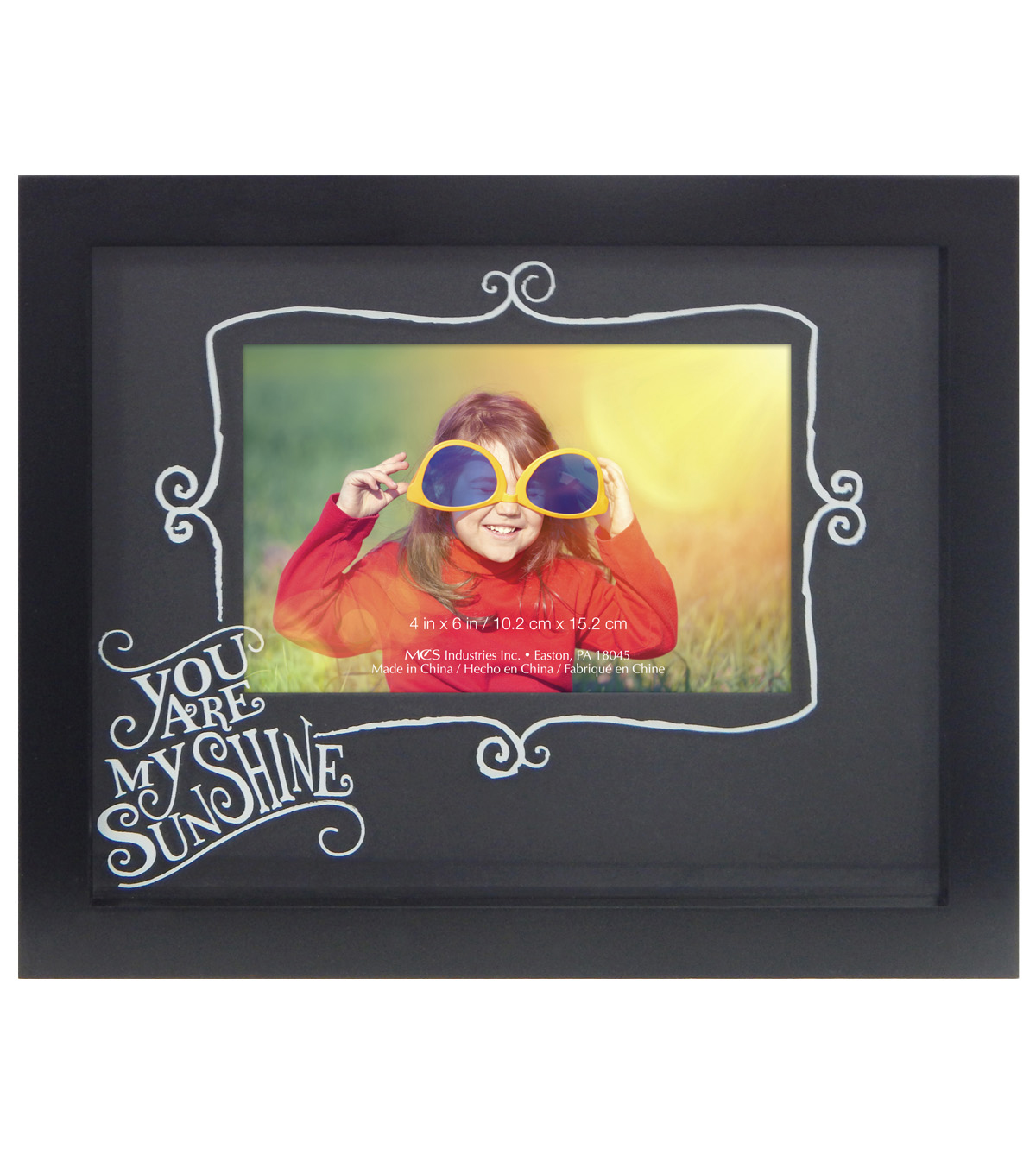 Wall Frame 7X9 To 4X6-You Are My Sunshine Black