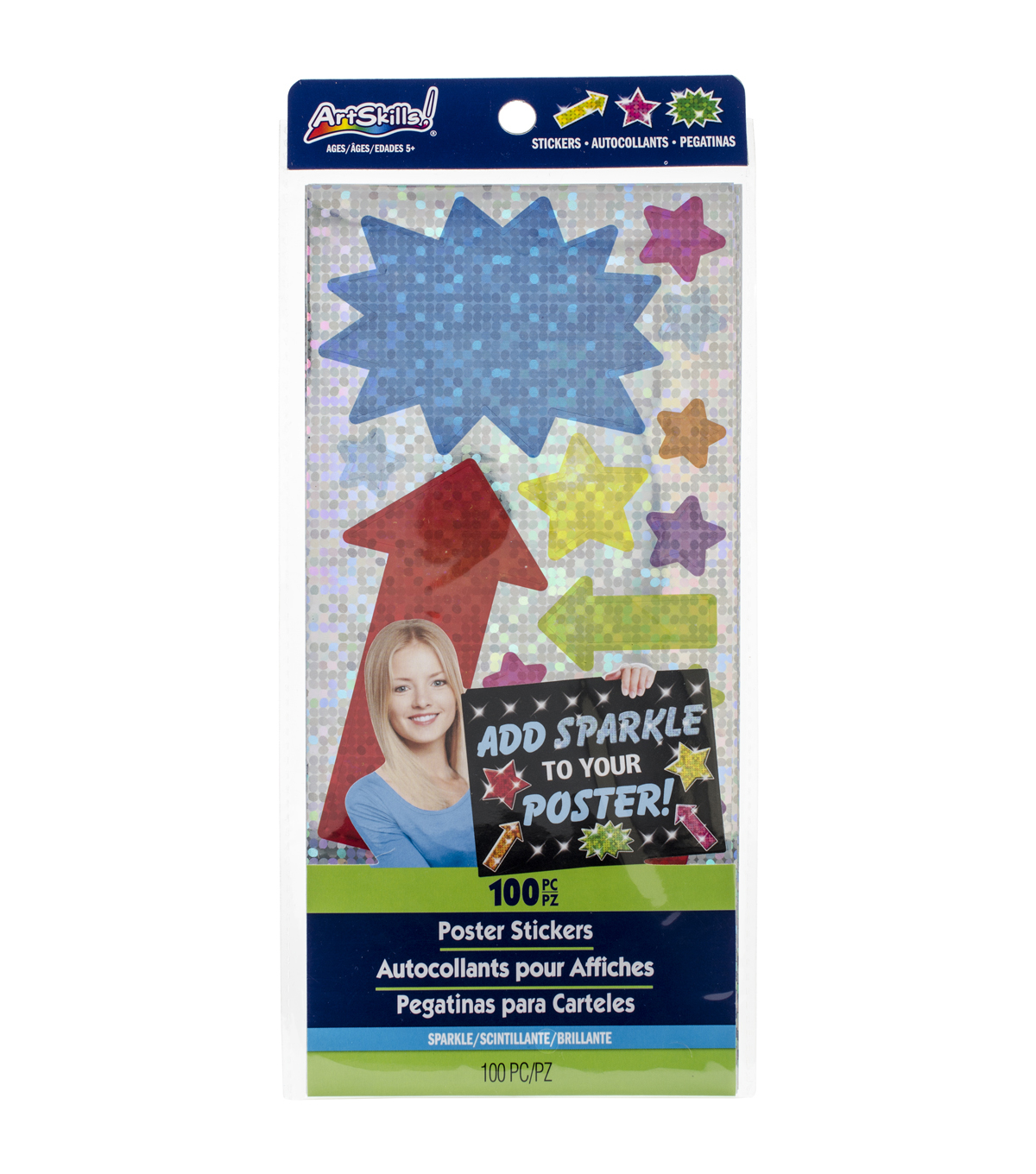 Artskills® 100pcs Sparkle Poster Stickers
