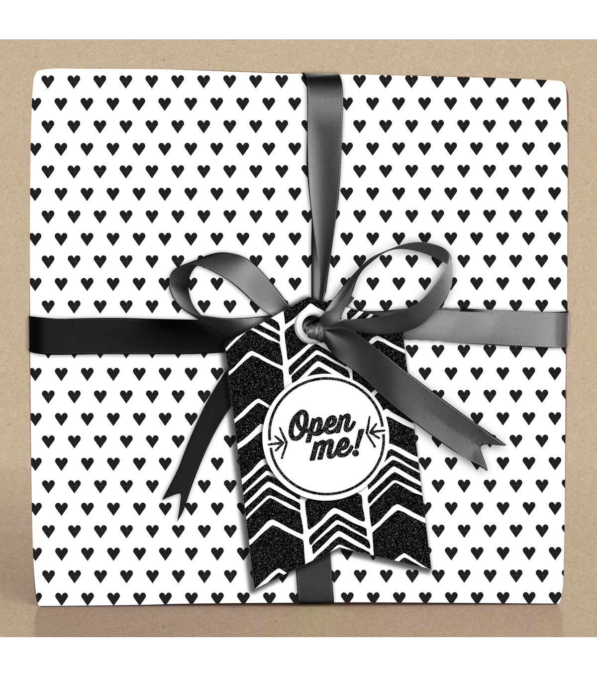 K&Company Black And White Chevron Gift Tags