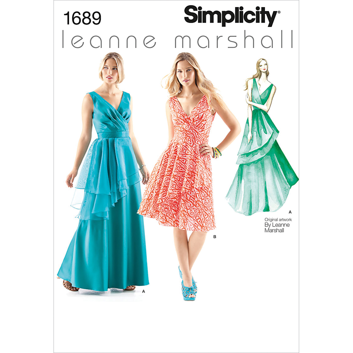 Simplicity Pattern 1689D5 4-6-8-10-1-Misses Special Occas