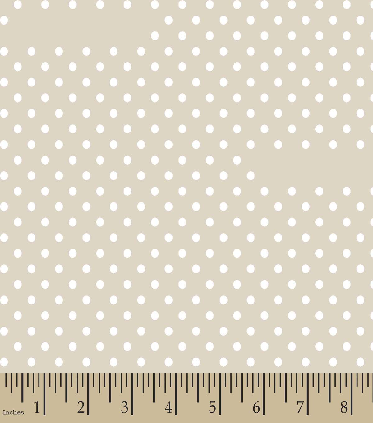 Tan Dot Print Fabric